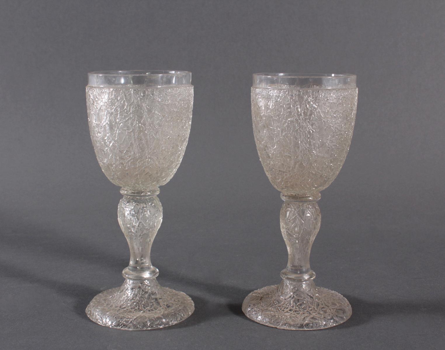 Paar Pokalgläser, 1850-1900