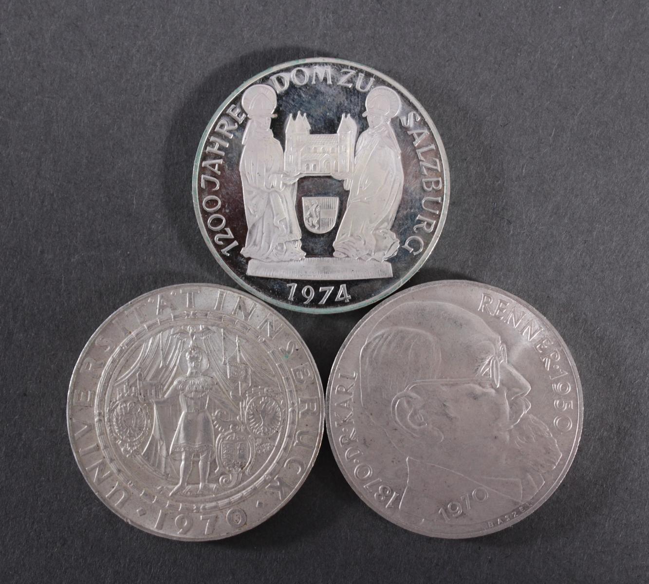 50 Schilling Silbermünzen – 3 Stück