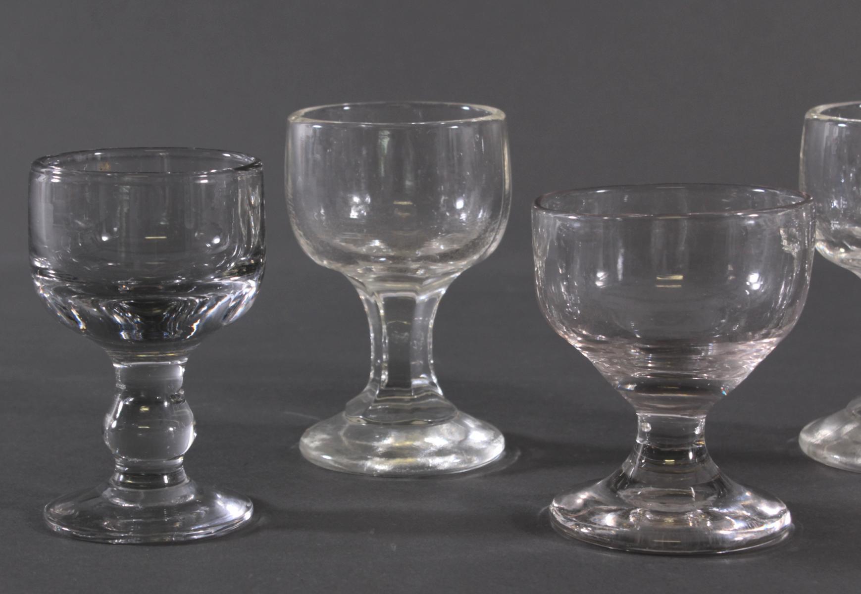 Fünf massive Weingläser, 19. Jahrhundert-2