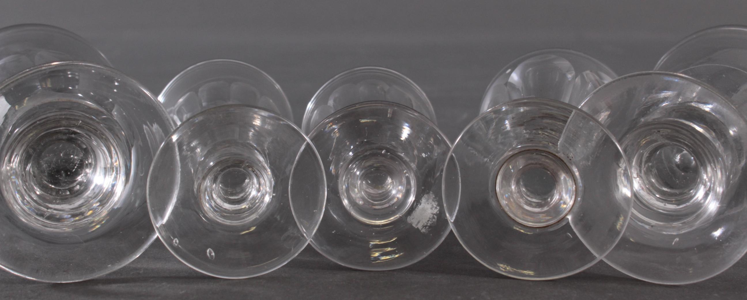Fünf  Wein-/Absinthgläser, 19. Jahrhundert-5