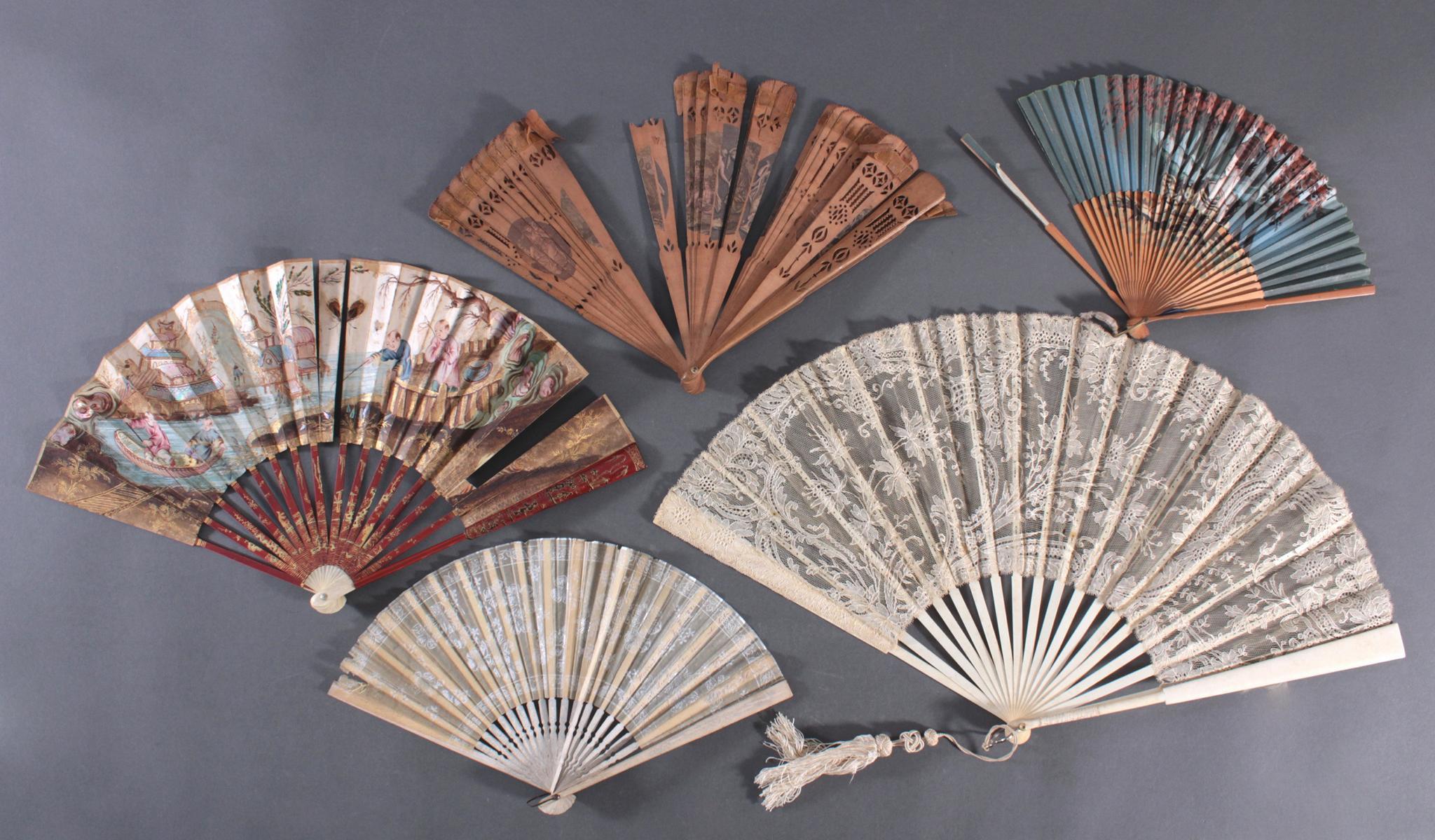 Fünf Fächer 18./19. Jahrhundert, Frankreich/Asien