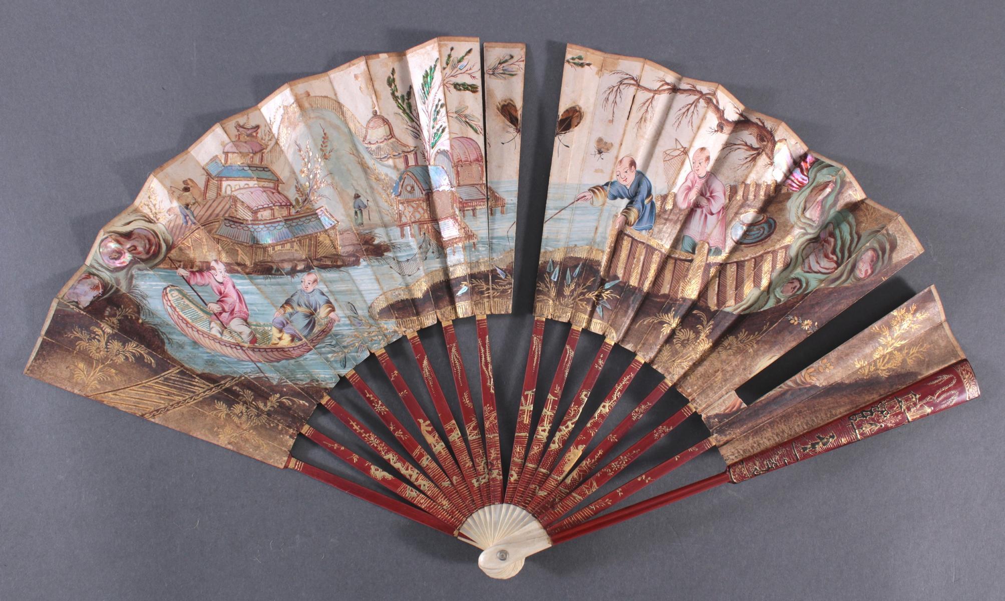 Fünf Fächer 18./19. Jahrhundert, Frankreich/Asien-2