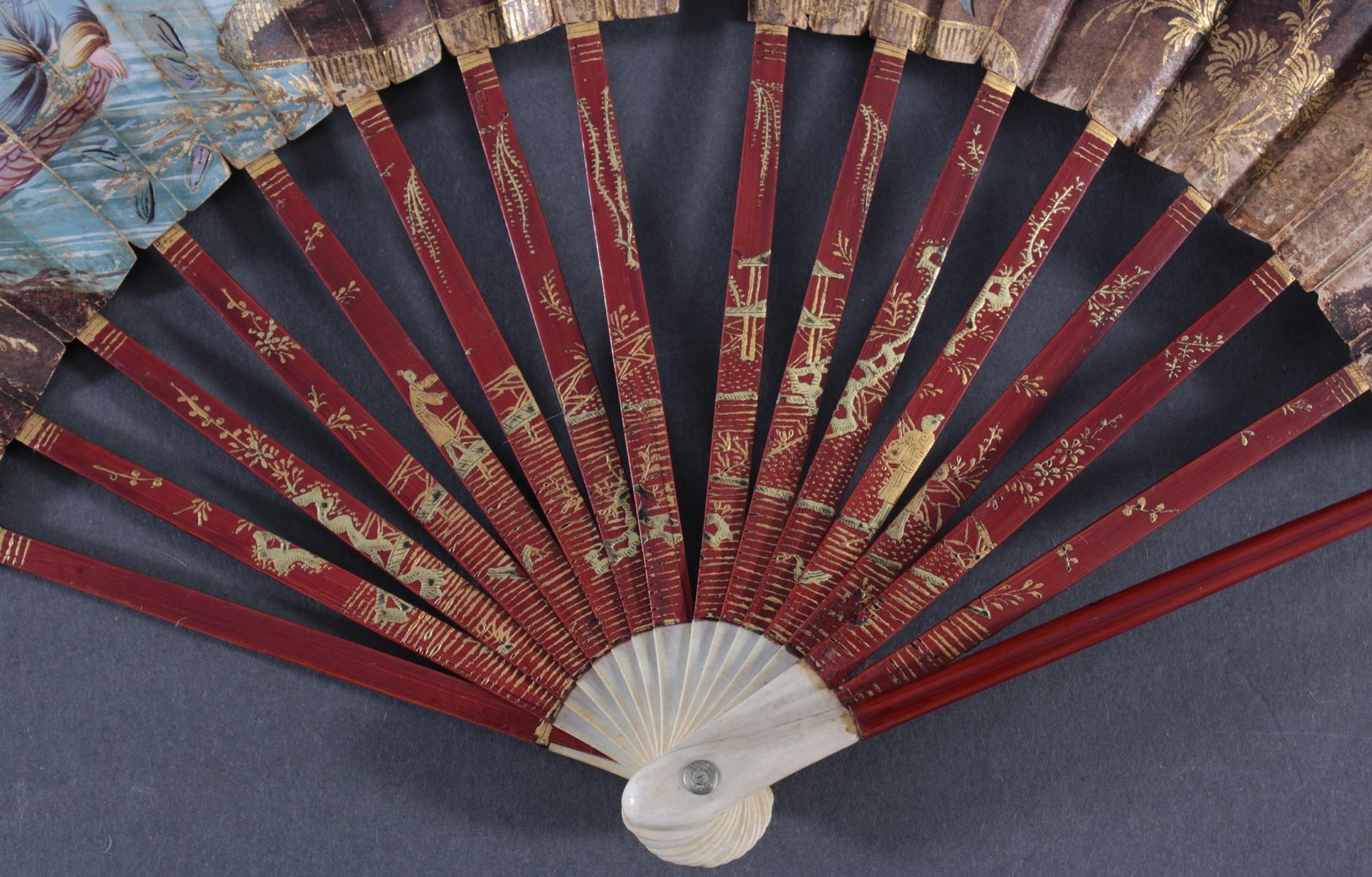 Fünf Fächer 18./19. Jahrhundert, Frankreich/Asien-9