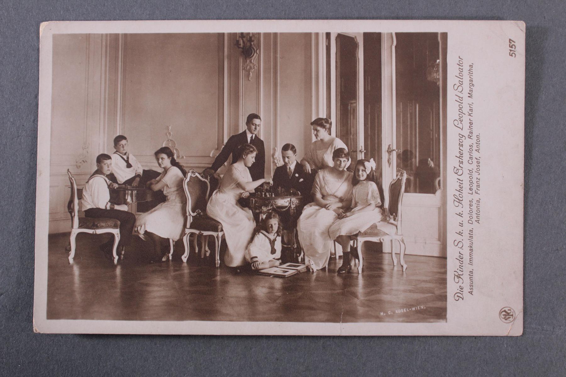 Postkarte mit Autograph Erzherzogin Blanca de Borbòn (1868-1949)