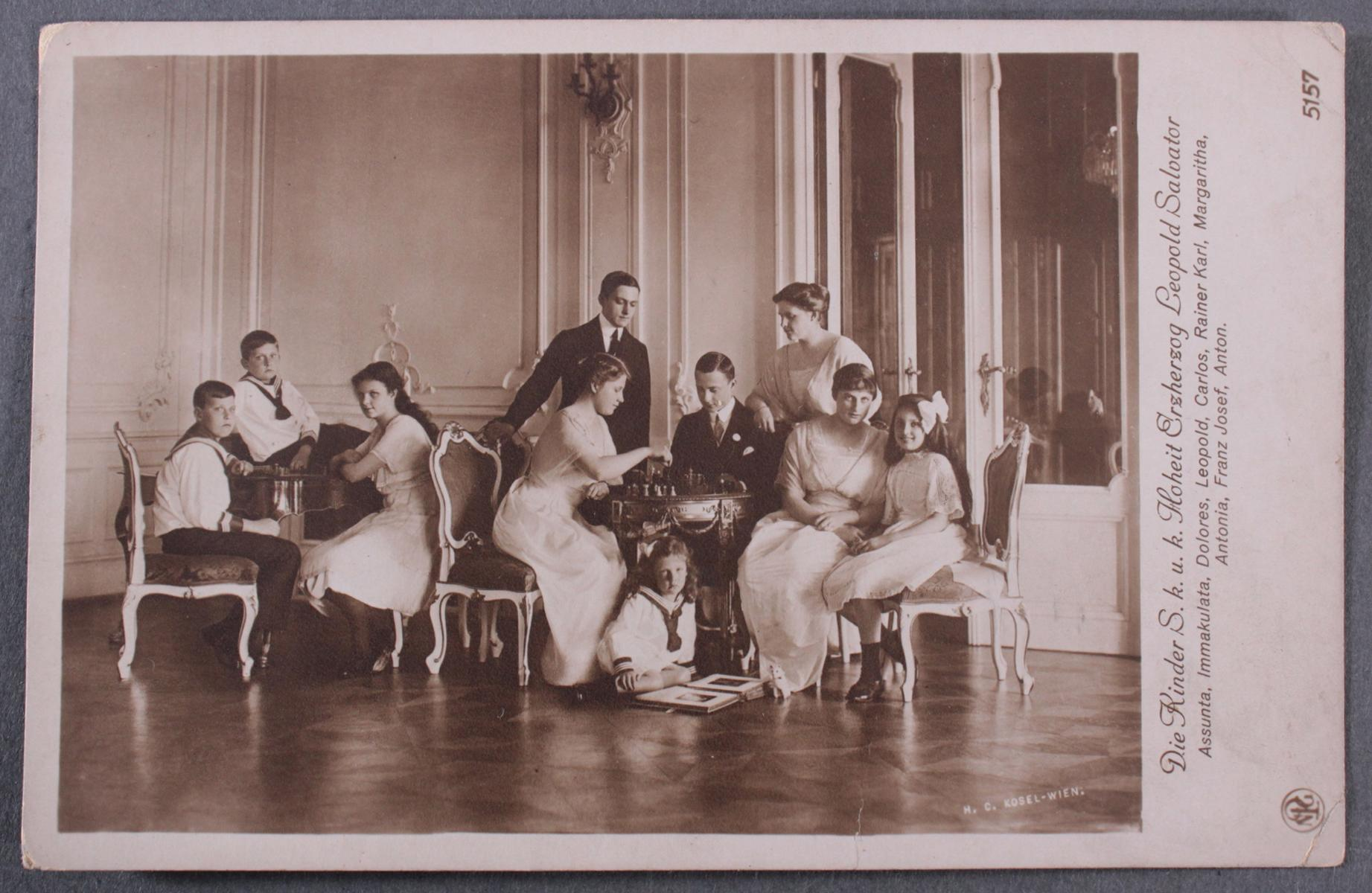 Postkarte mit Autograph Erzherzogin Blanca de Borbòn (1868-1949)-2