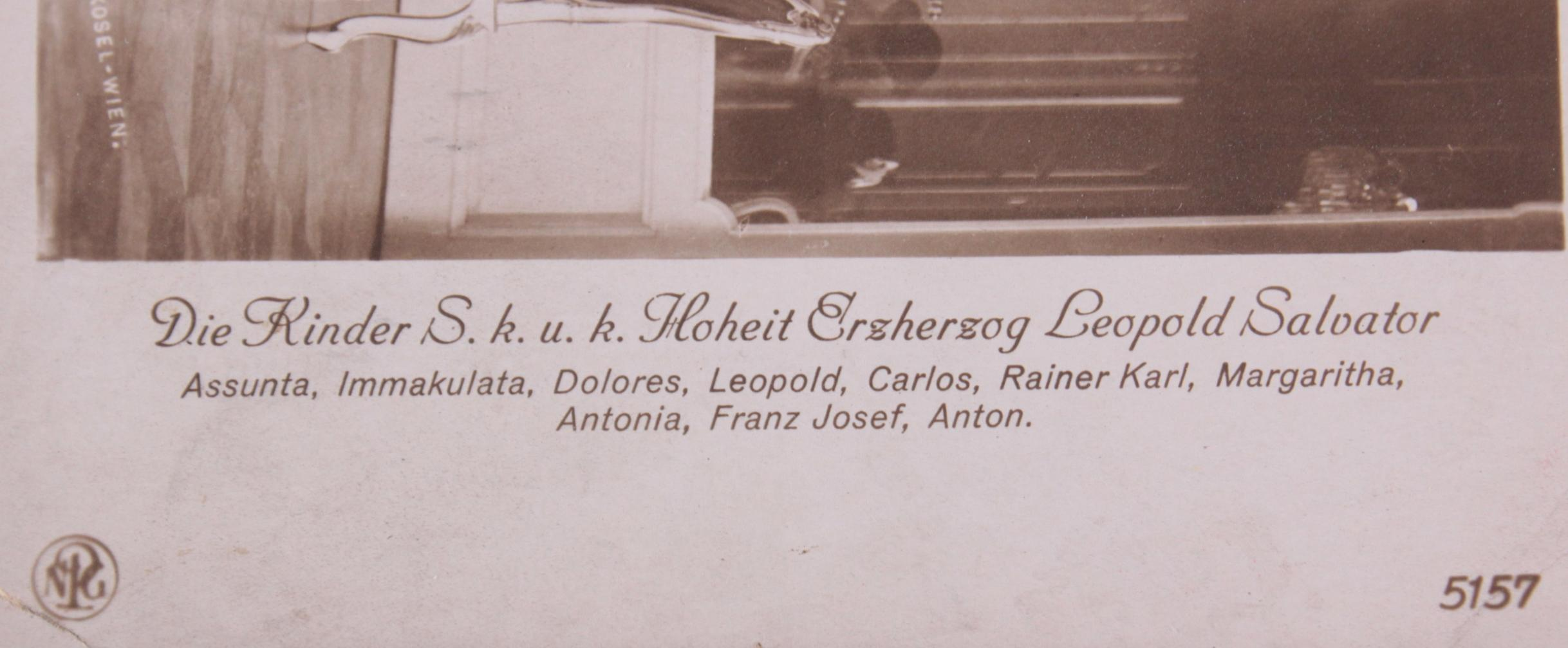 Postkarte mit Autograph Erzherzogin Blanca de Borbòn (1868-1949)-3