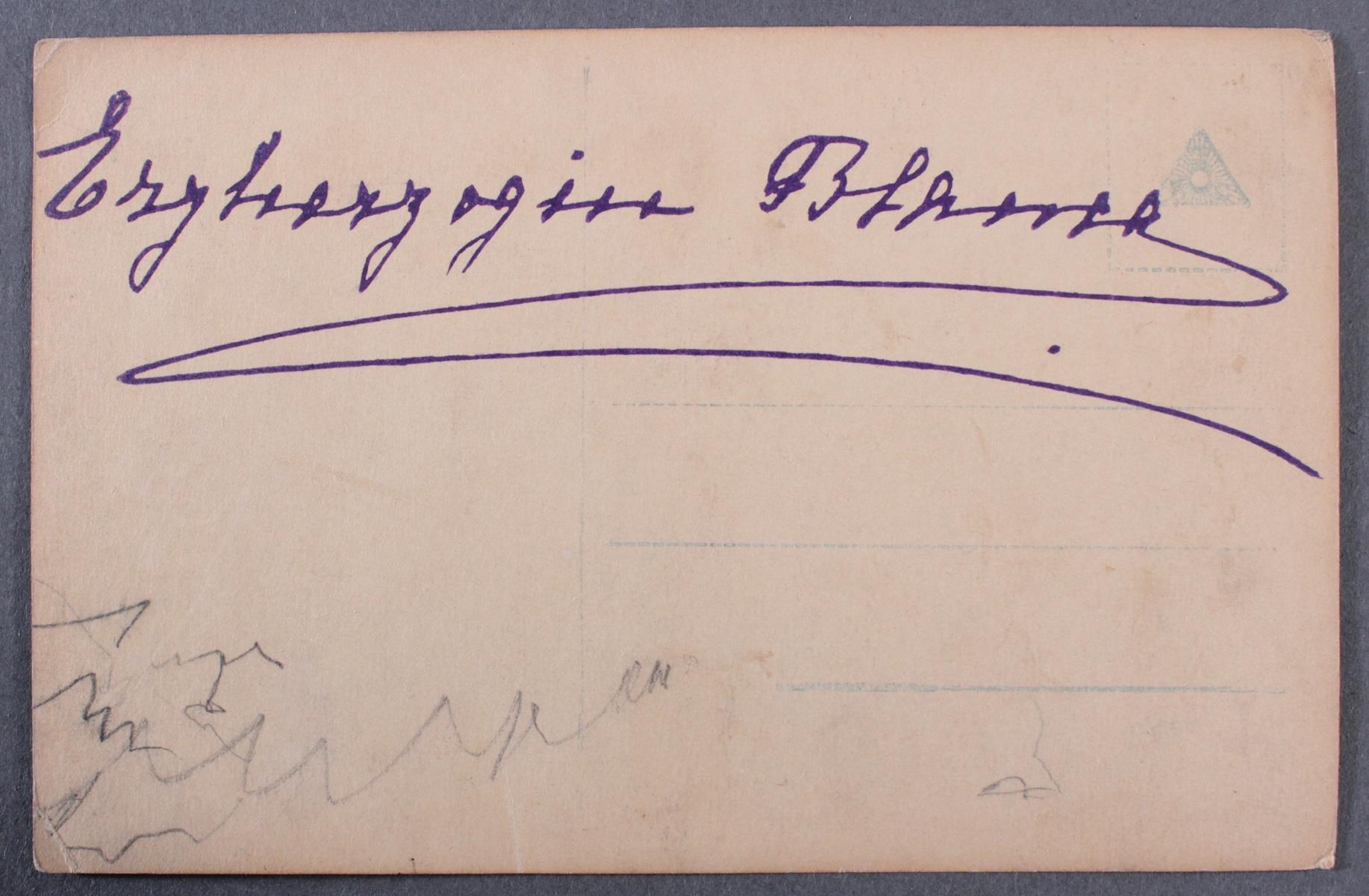 Postkarte mit Autograph Erzherzogin Blanca de Borbòn (1868-1949)-4