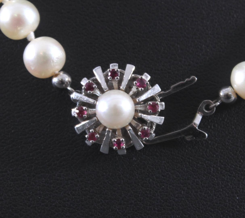 Perlenkette mit 14 Karat Weißgoldschließe-3