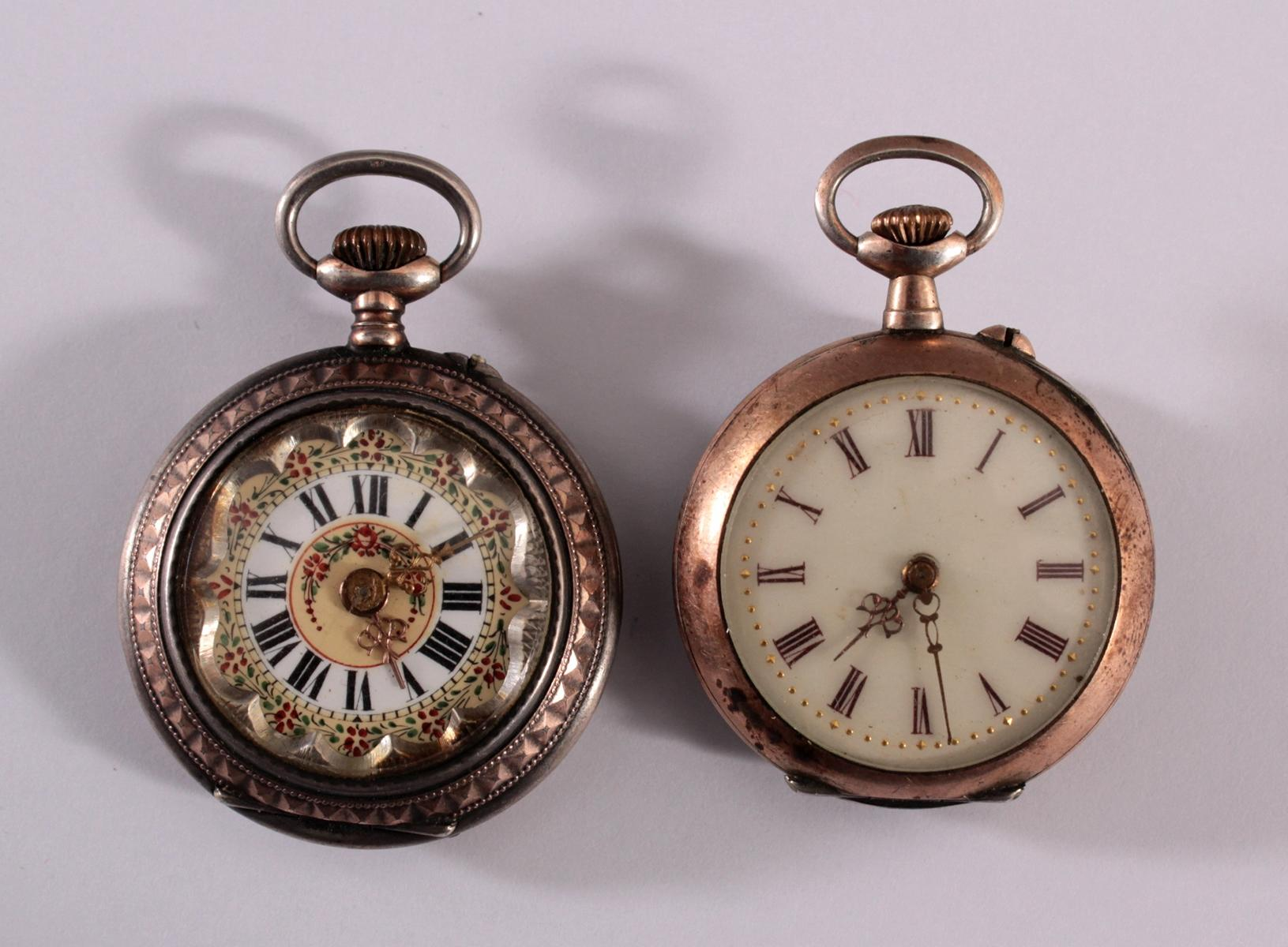 2 Damentaschenuhren um 1900