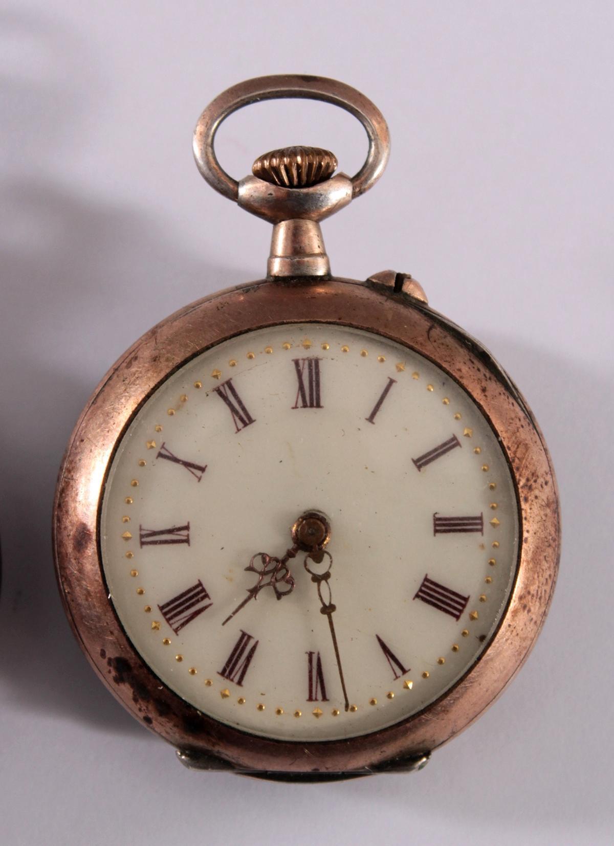 2 Damentaschenuhren um 1900-3