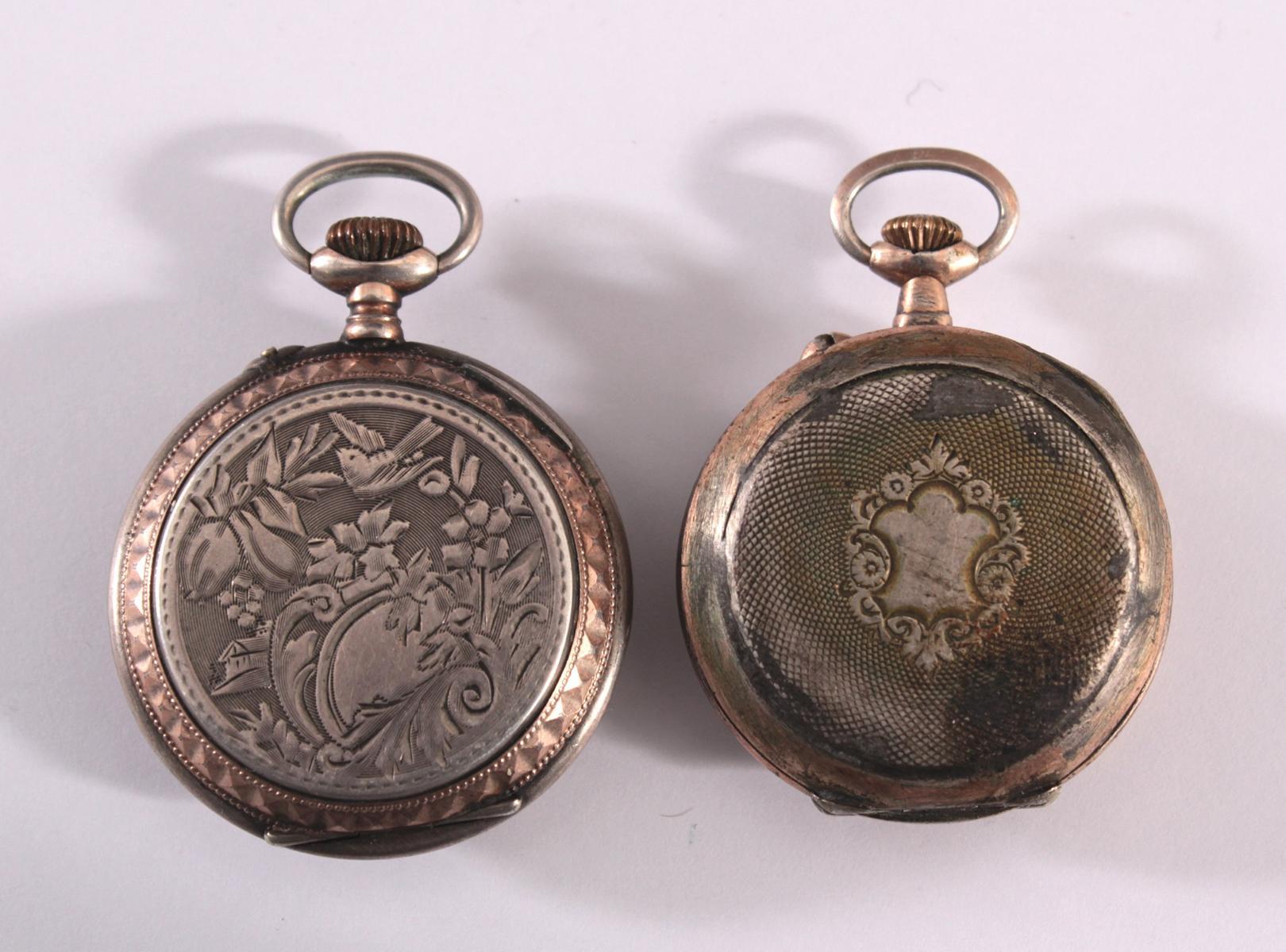 2 Damentaschenuhren um 1900-4