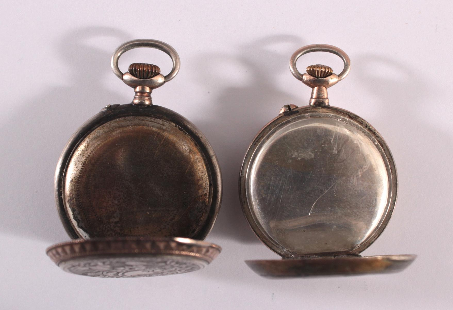 2 Damentaschenuhren um 1900-5