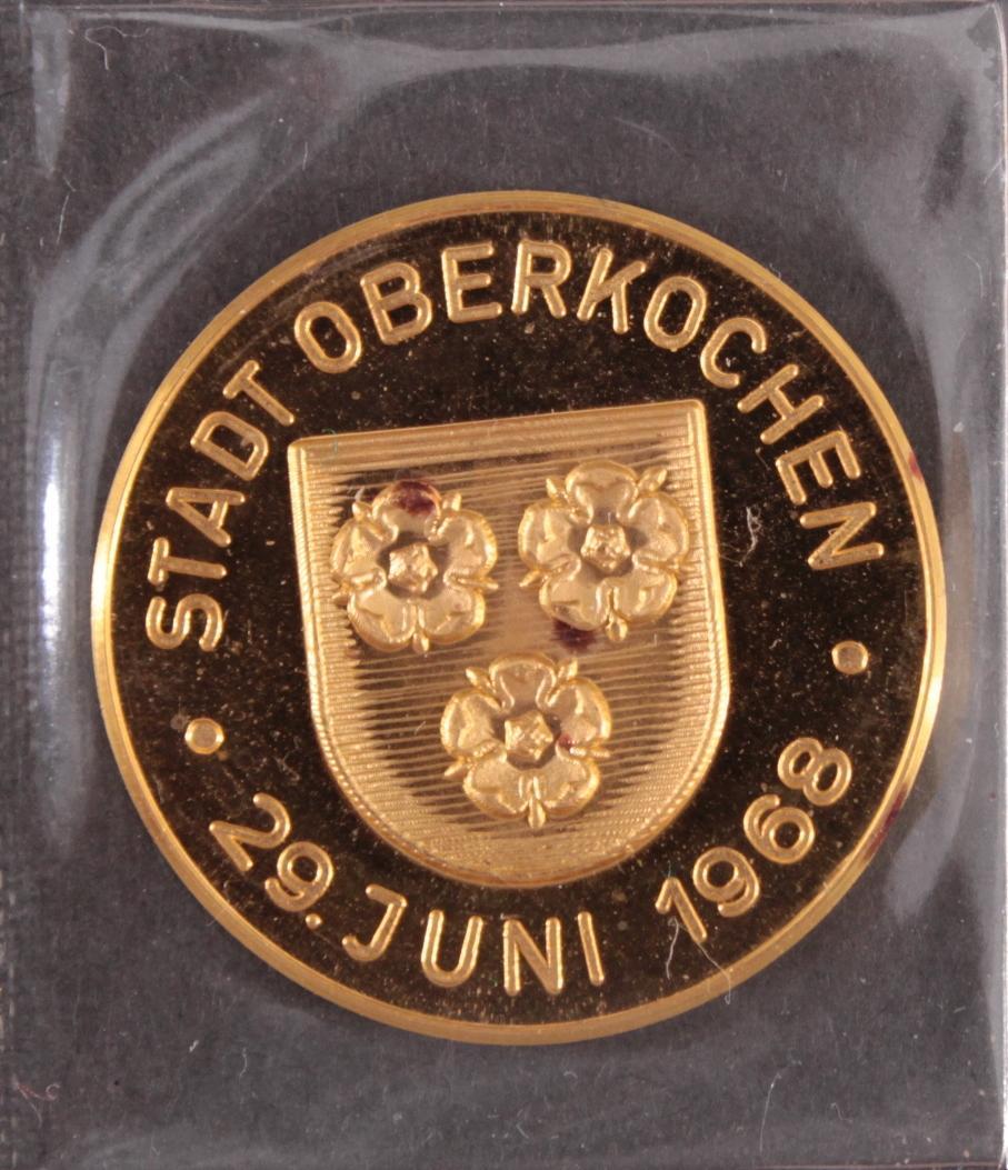 Goldmedaille Stadt Oberkochen 26. Juni 1986