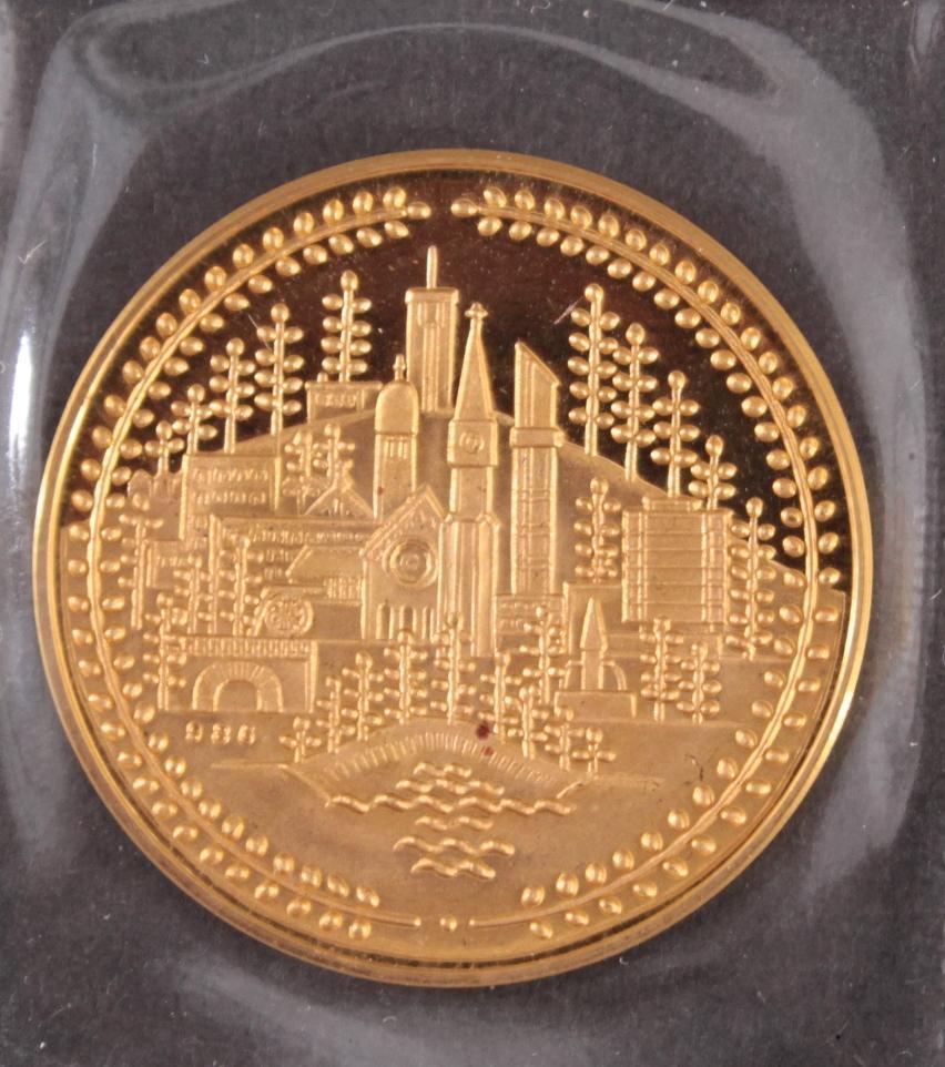 Goldmedaille Stadt Oberkochen 26. Juni 1986-2