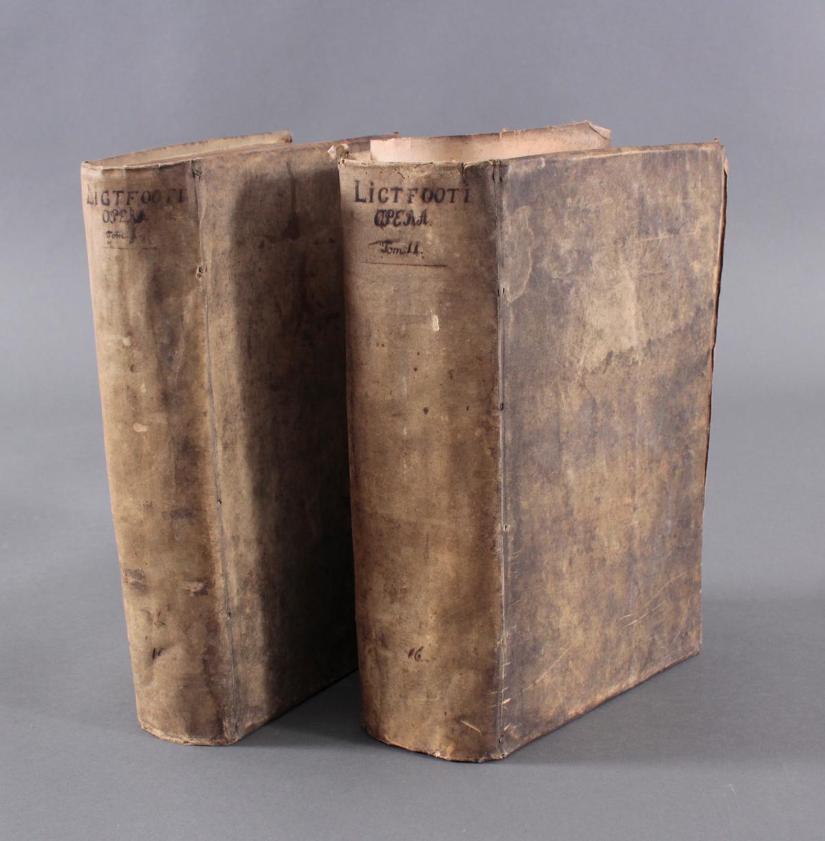 2 Bände Opera Ominia – Joh. Lightfooti, 1618