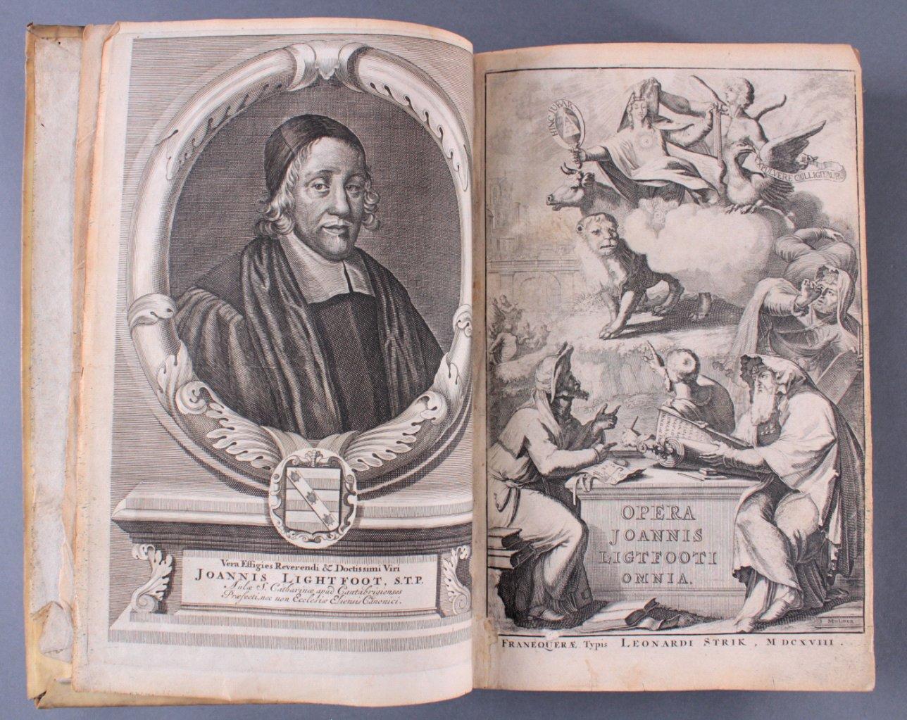 2 Bände Opera Ominia – Joh. Lightfooti, 1618-2