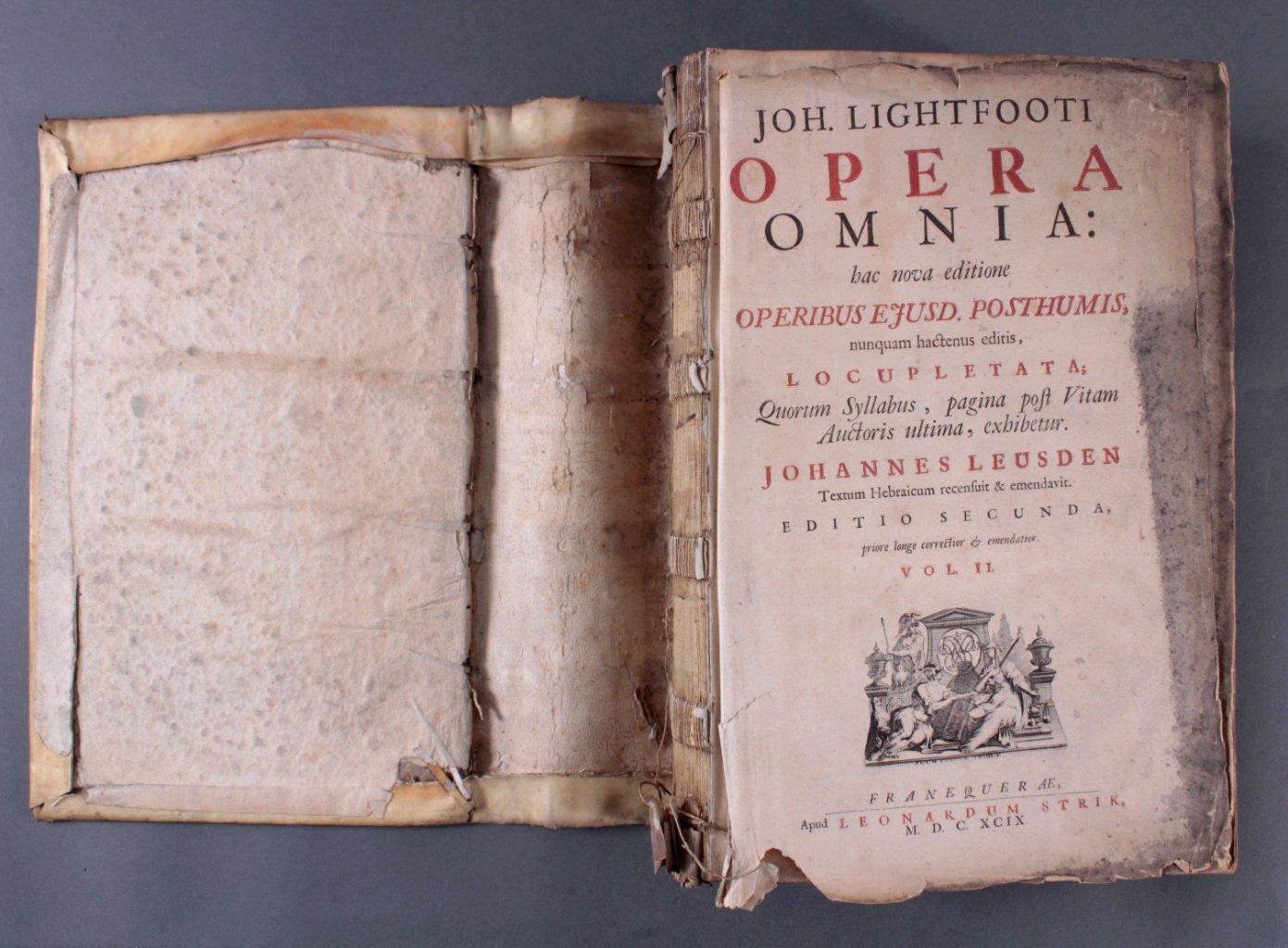 2 Bände Opera Ominia – Joh. Lightfooti, 1618-3