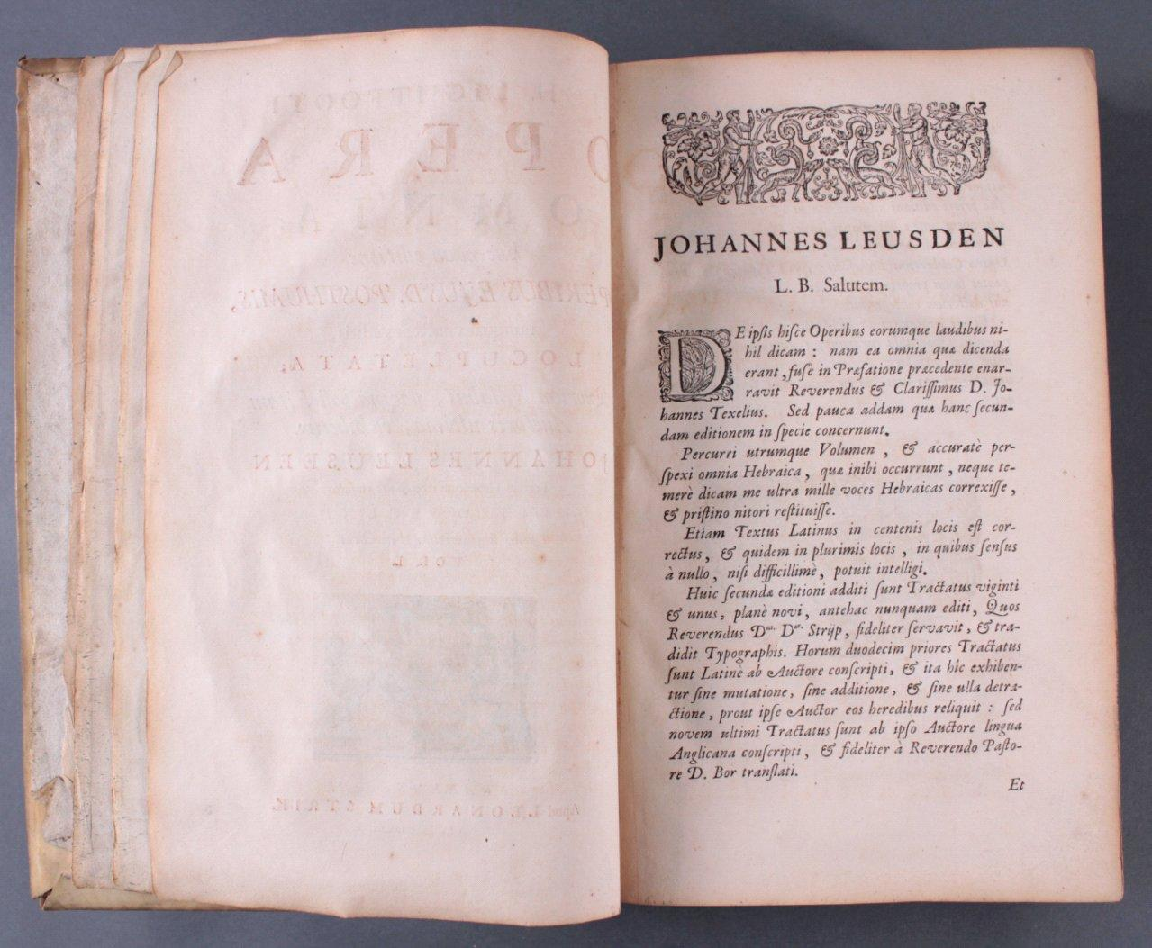 2 Bände Opera Ominia – Joh. Lightfooti, 1618-6