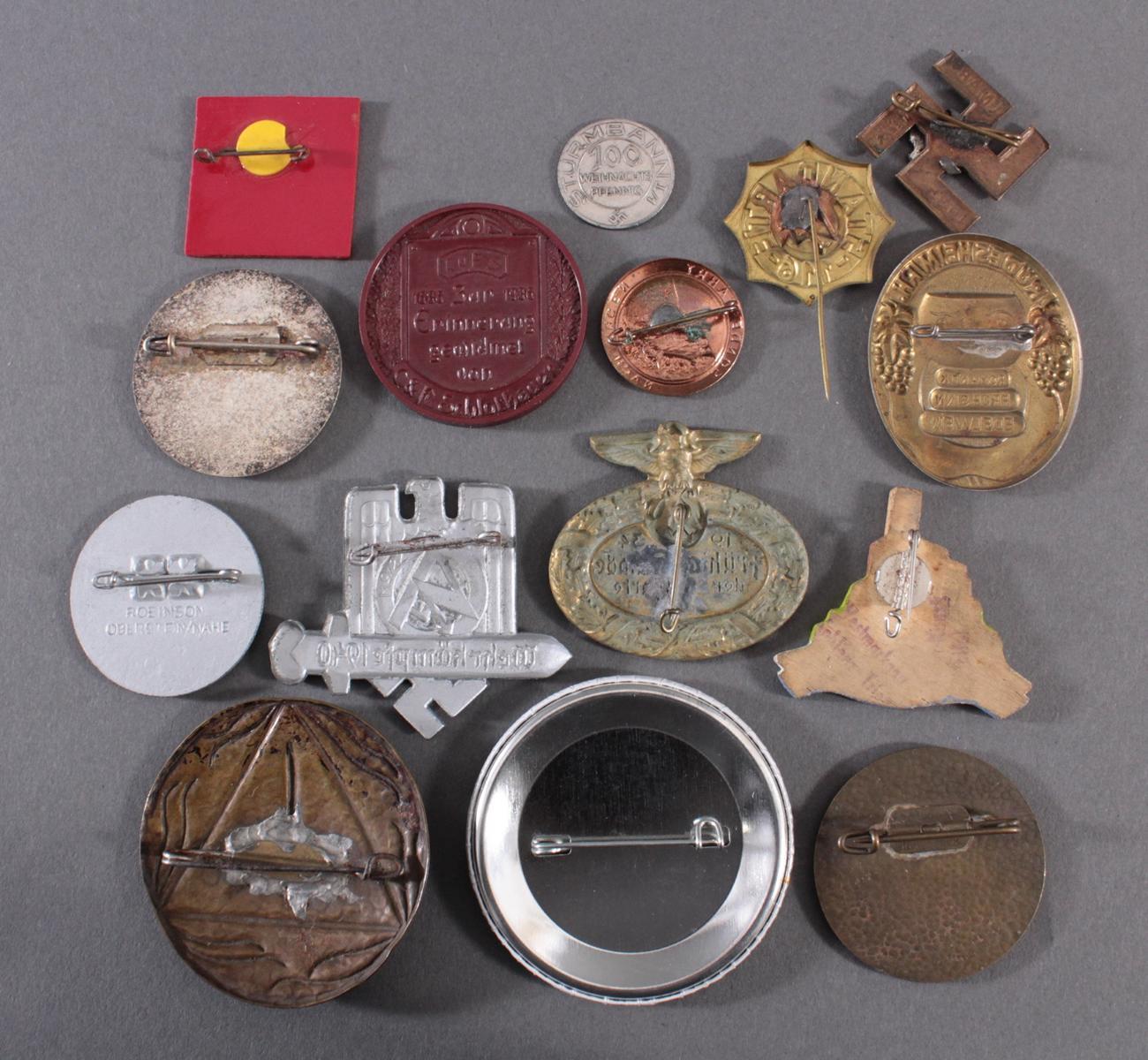 Sammlung Mitglieds- und Veranstaltungsabzeichen Rübeland Saar, 15 Stück-2