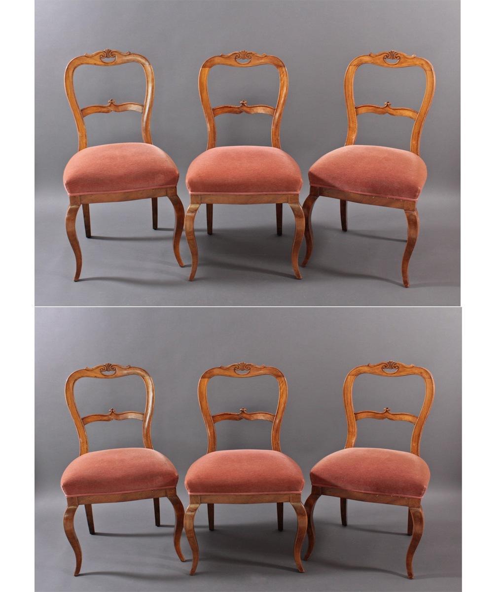 6 Stühle aus dem 19. Jh.