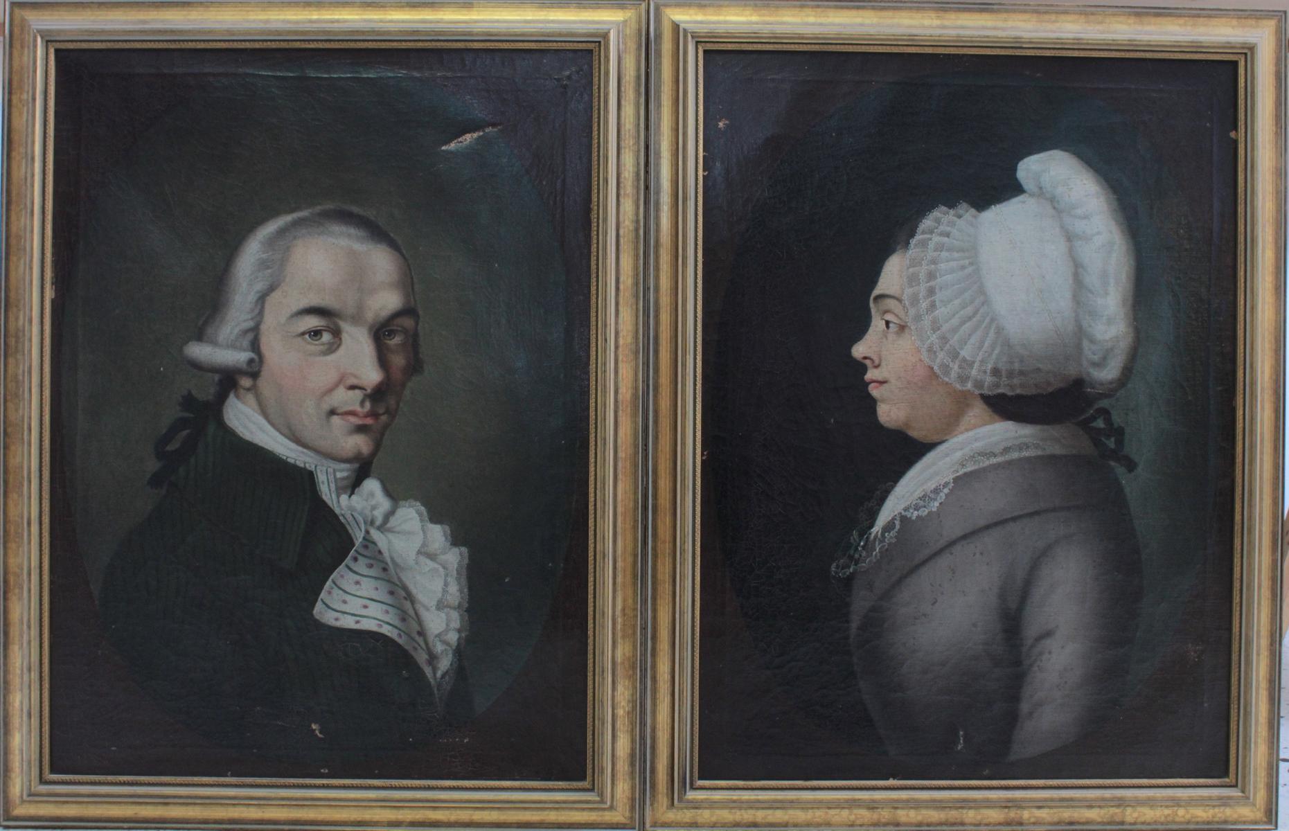 Damen- und Herrenportrait, 18. Jh.