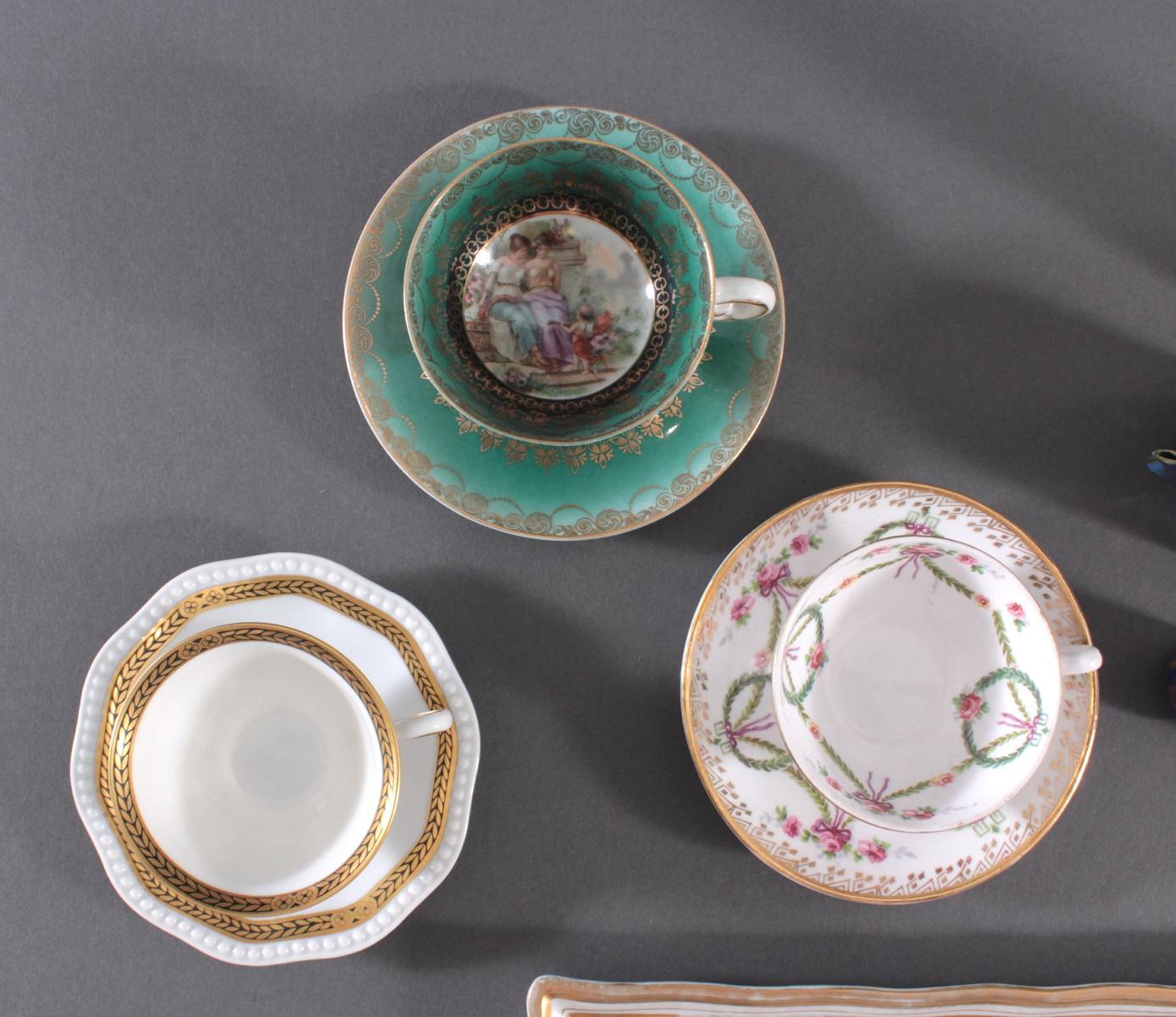 Konvolut Porzellan und Cloisonne – Miniatur-Teeservice-4