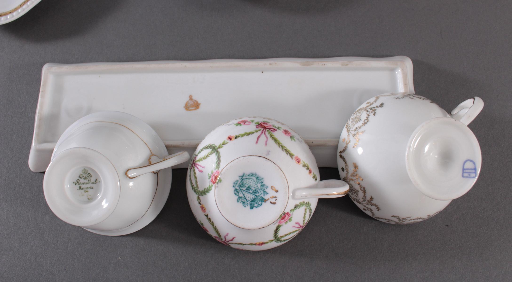 Konvolut Porzellan und Cloisonne – Miniatur-Teeservice-5