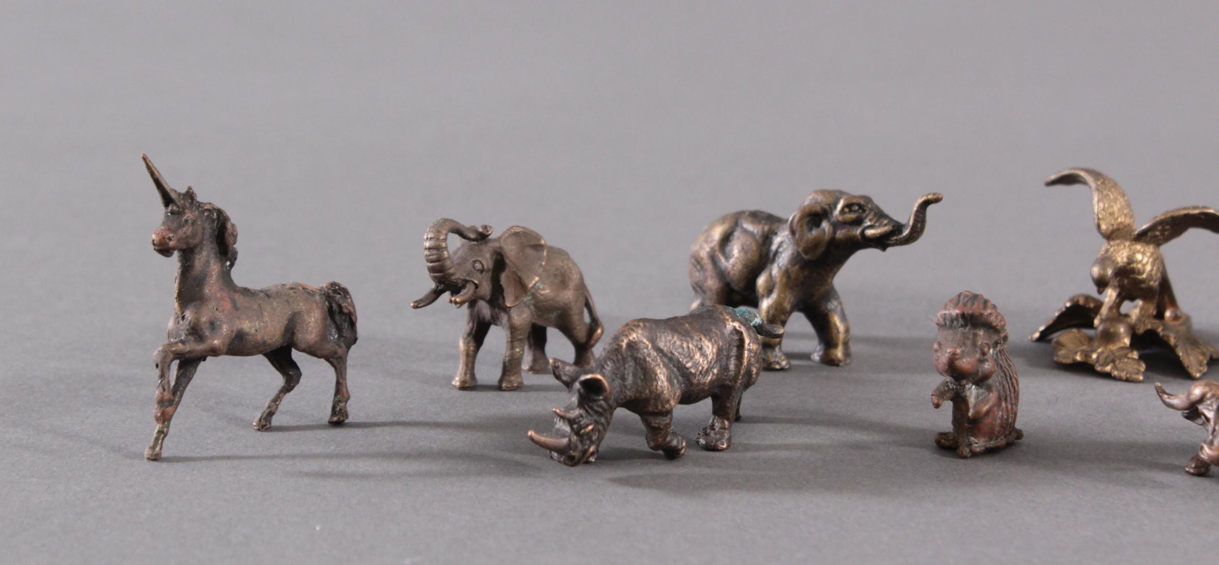 Miniatur Bronzefiguren, 10 Stück-2