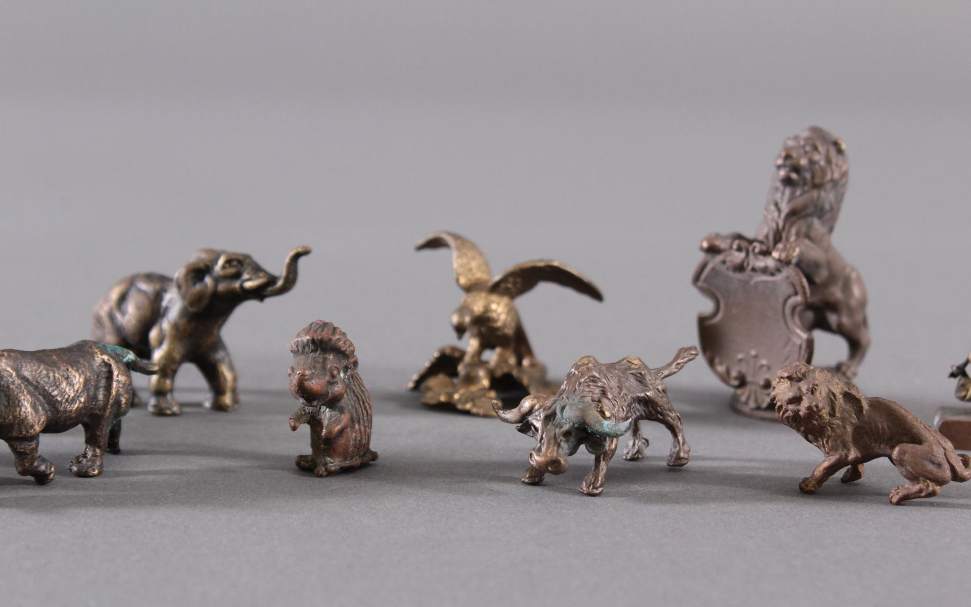 Miniatur Bronzefiguren, 10 Stück-3