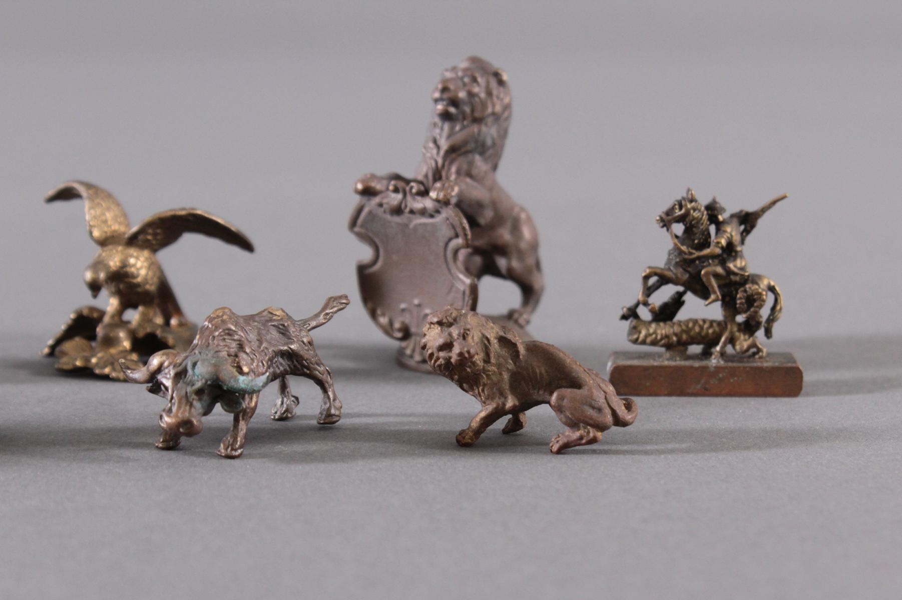 Miniatur Bronzefiguren, 10 Stück-4