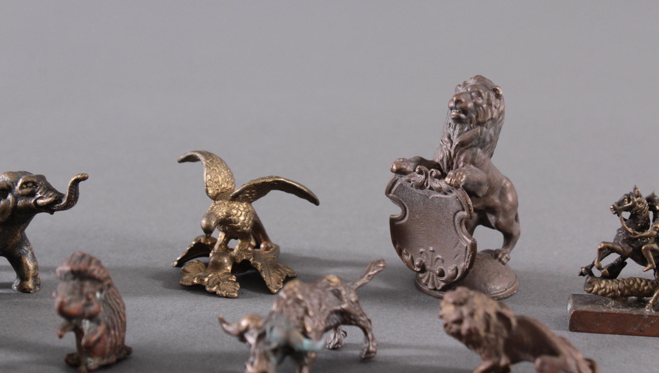 Miniatur Bronzefiguren, 10 Stück-5