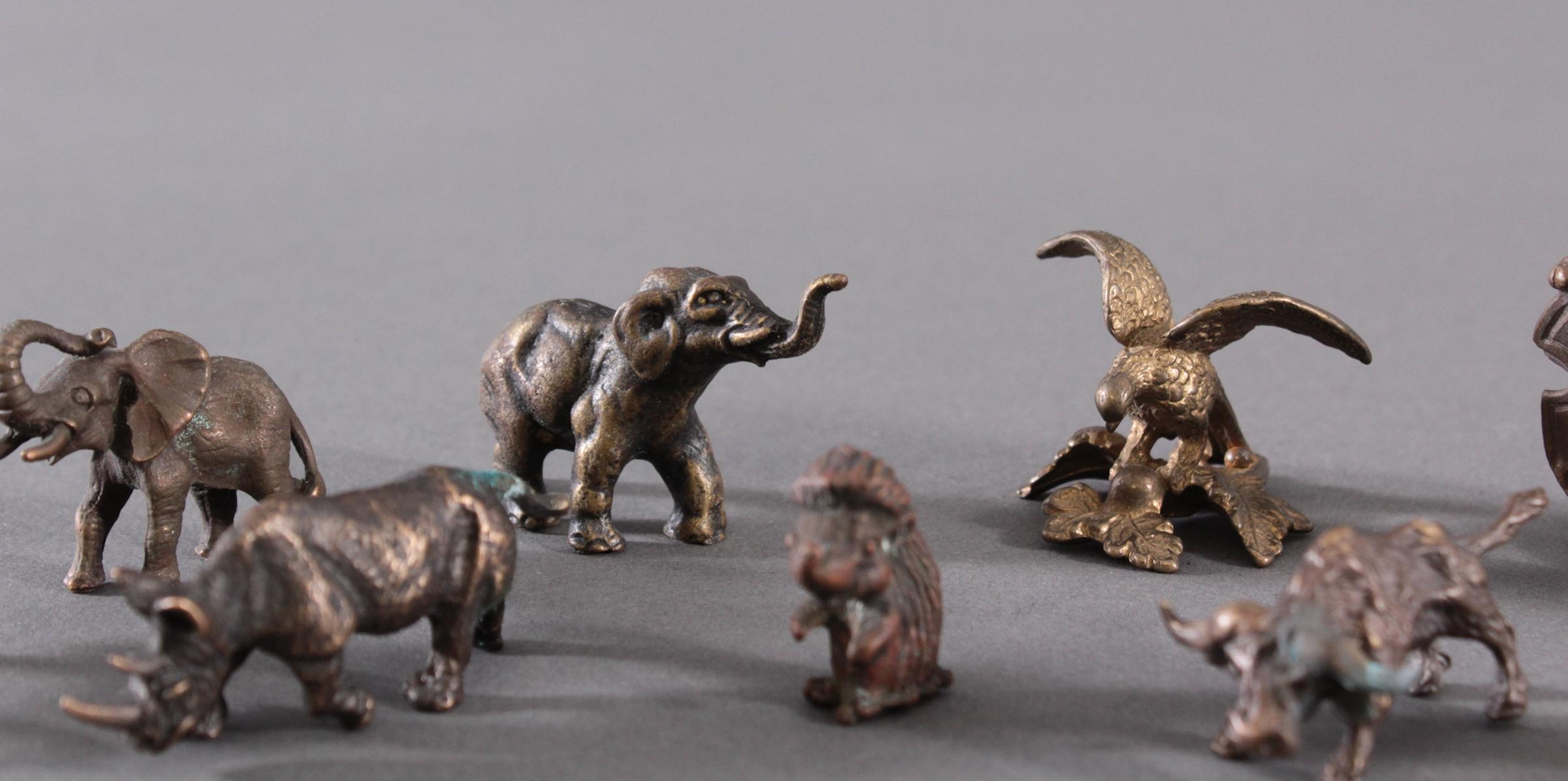 Miniatur Bronzefiguren, 10 Stück-6