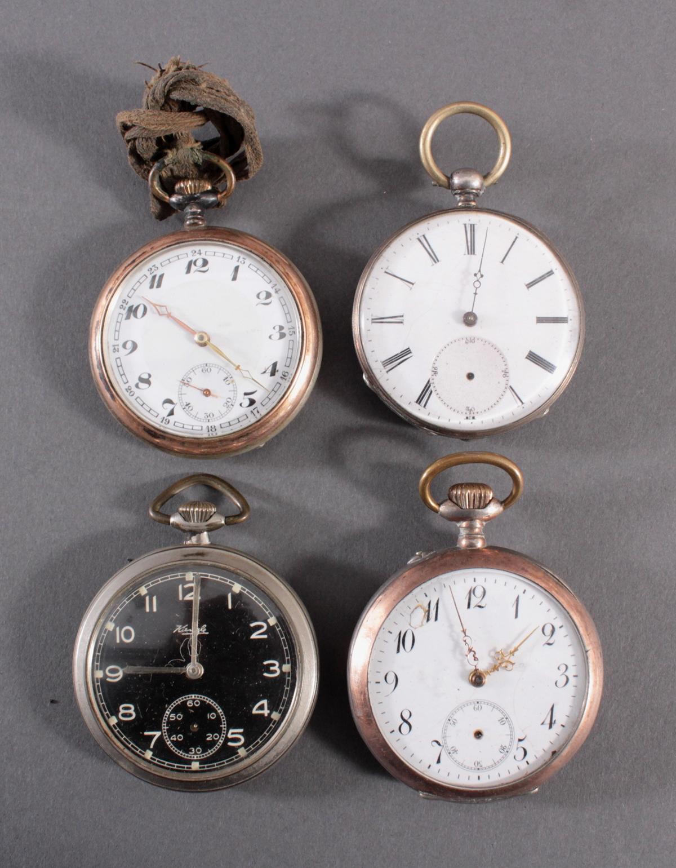 4 Taschenuhren davon 1 aus Silber
