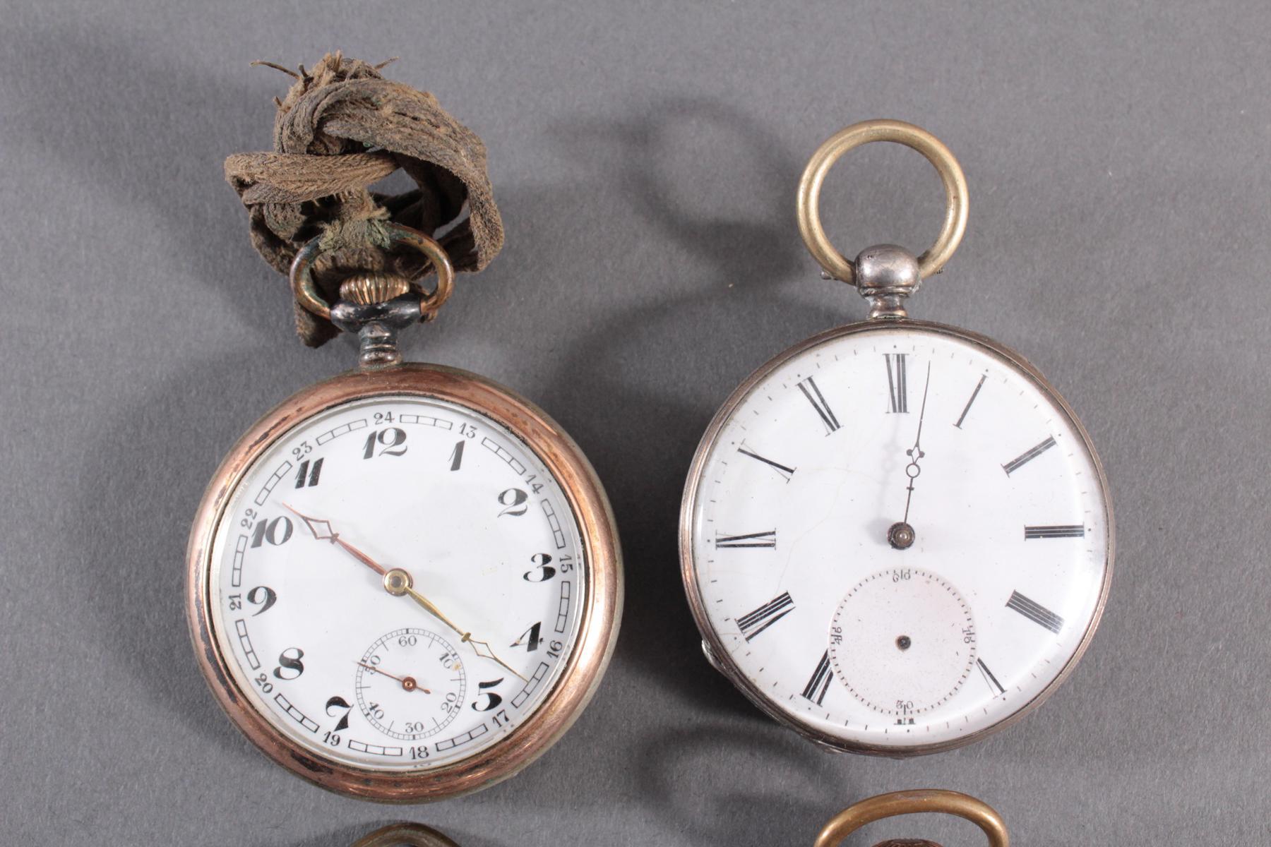 4 Taschenuhren davon 1 aus Silber-2