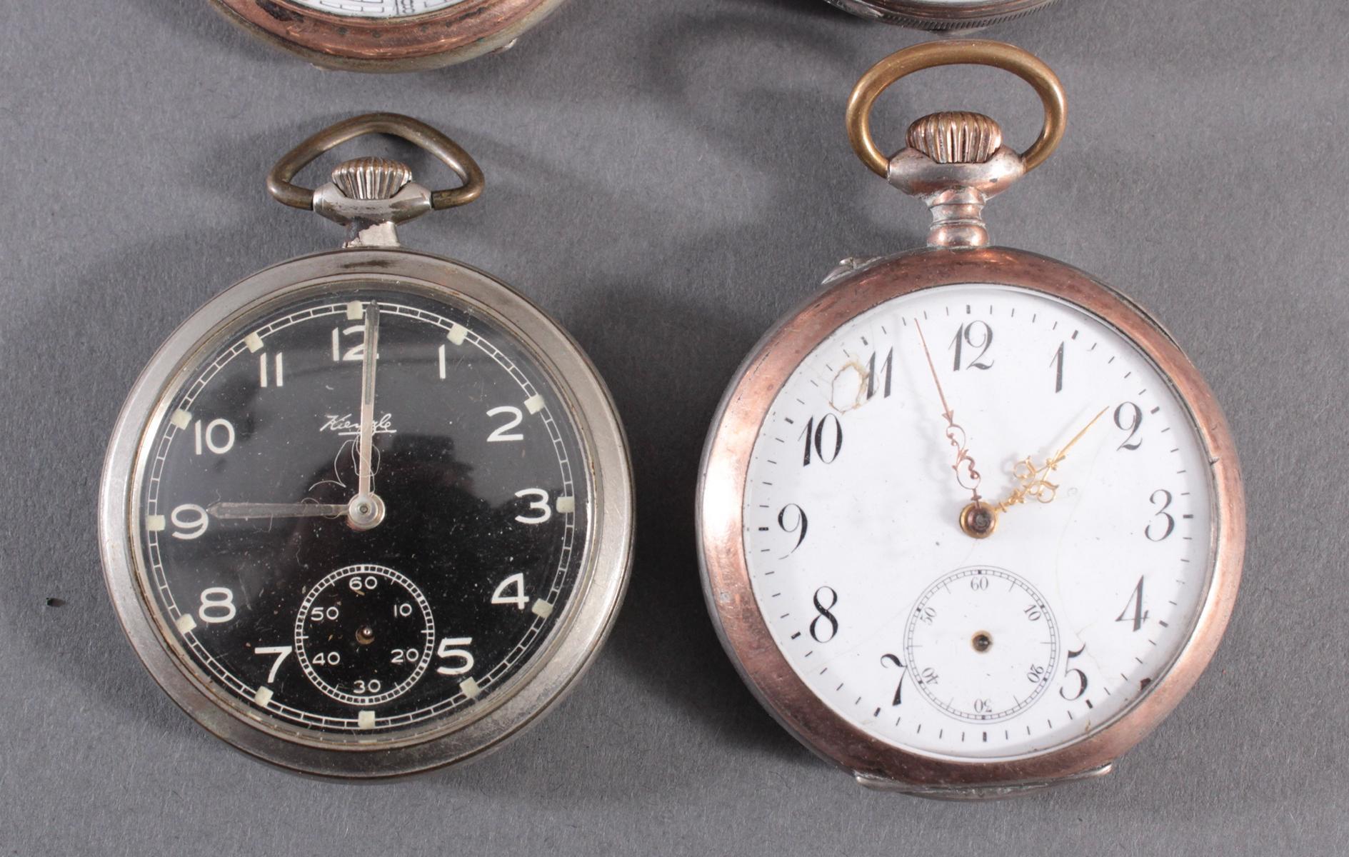 4 Taschenuhren davon 1 aus Silber-3