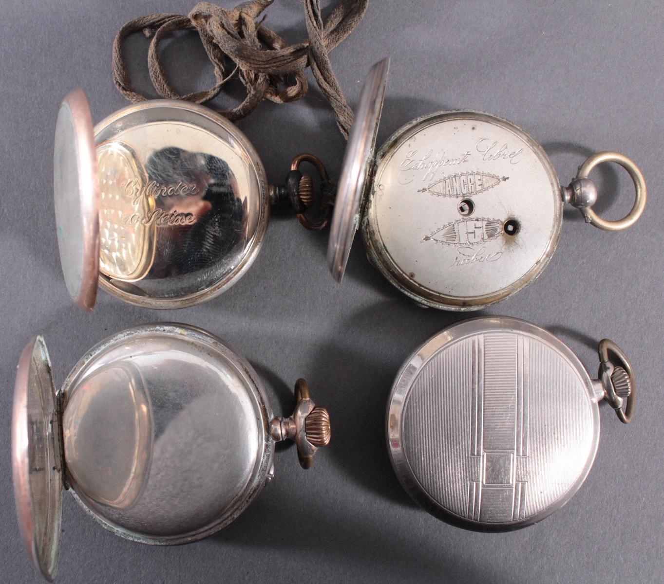 4 Taschenuhren davon 1 aus Silber-5