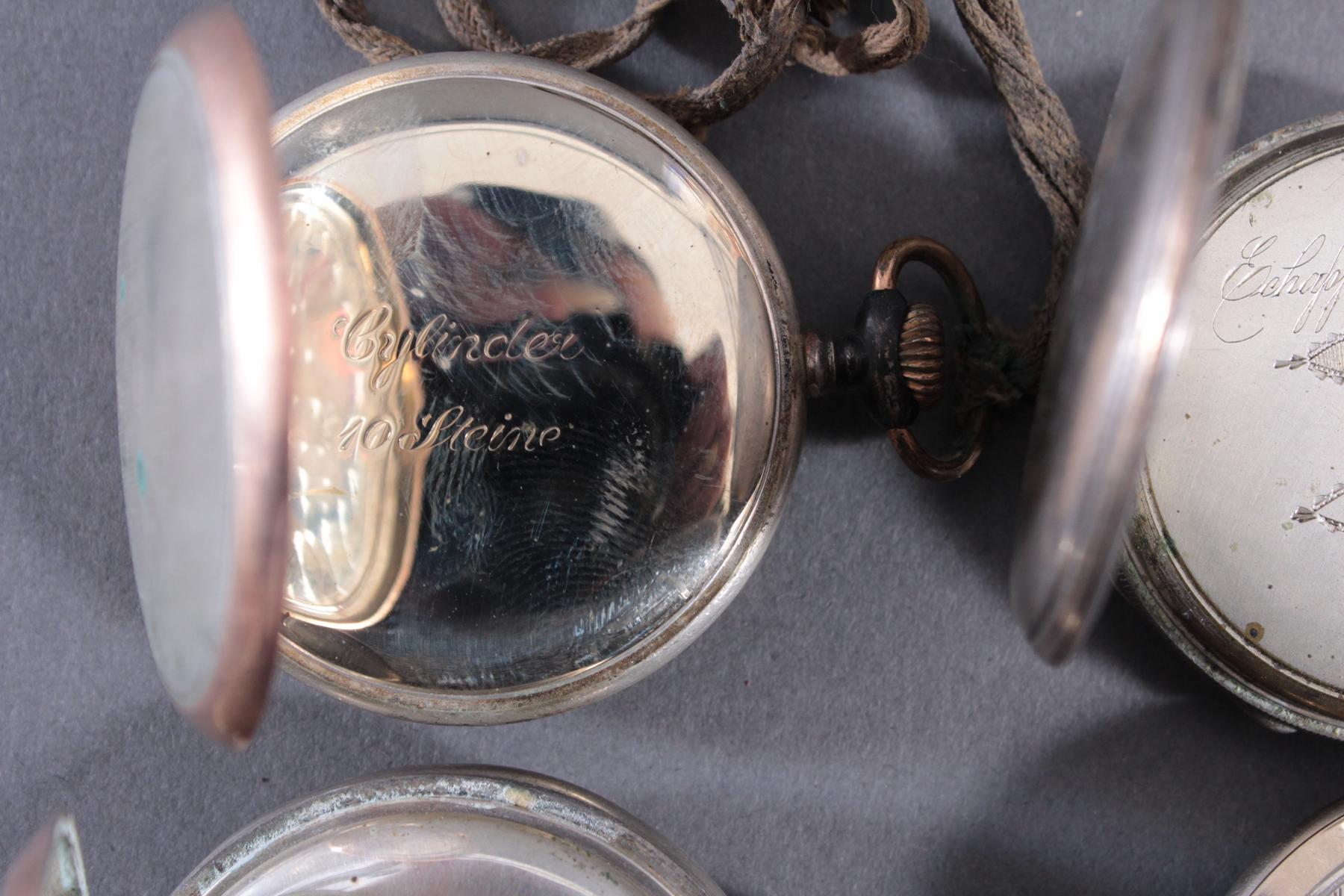 4 Taschenuhren davon 1 aus Silber-7