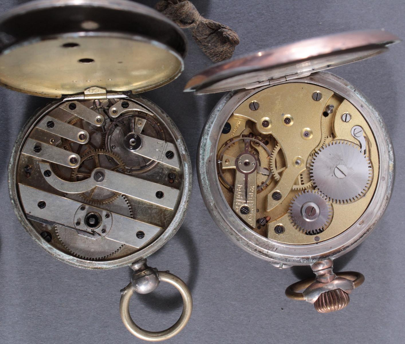 4 Taschenuhren davon 1 aus Silber-8
