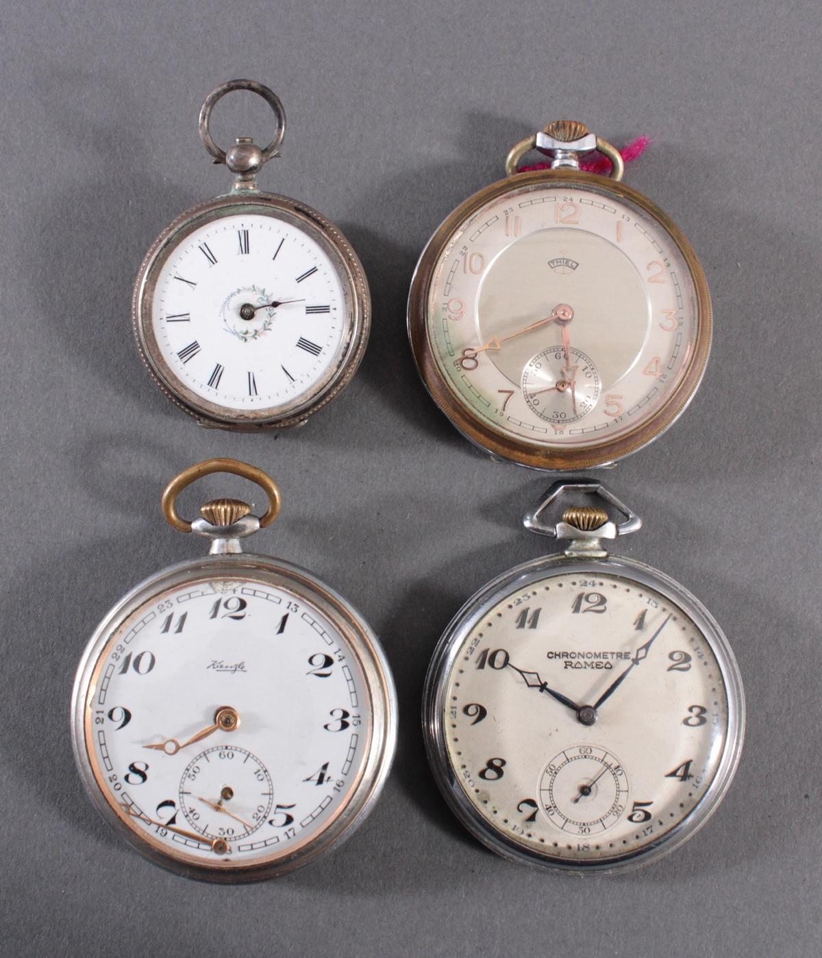 4 Taschenuhren