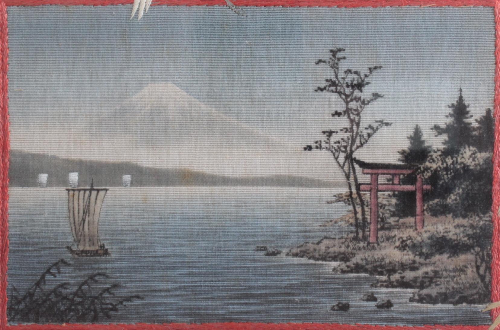 Japanisches Stickbild um 1900-2