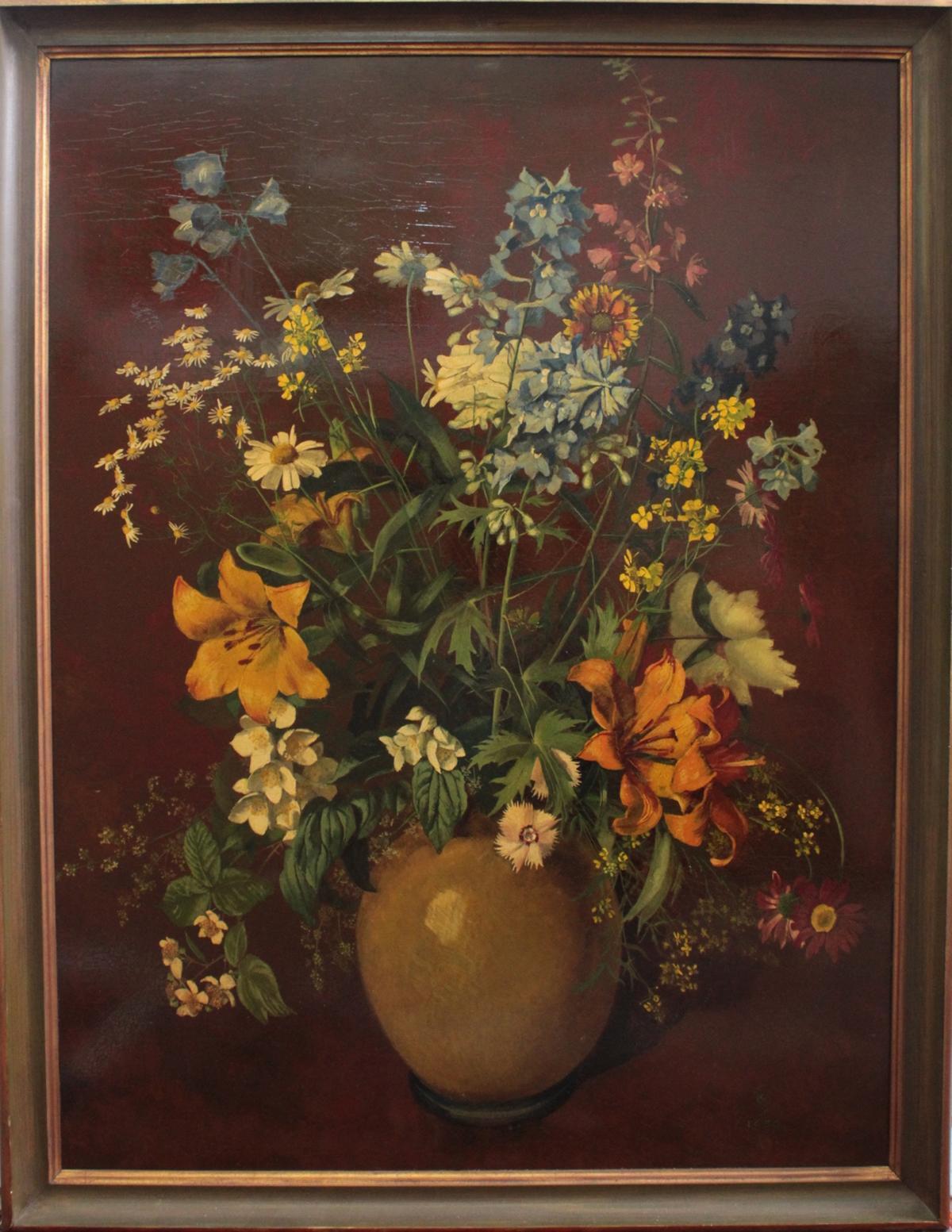Großes Blumenstilleben von 1939, unbekannter Monogrammist
