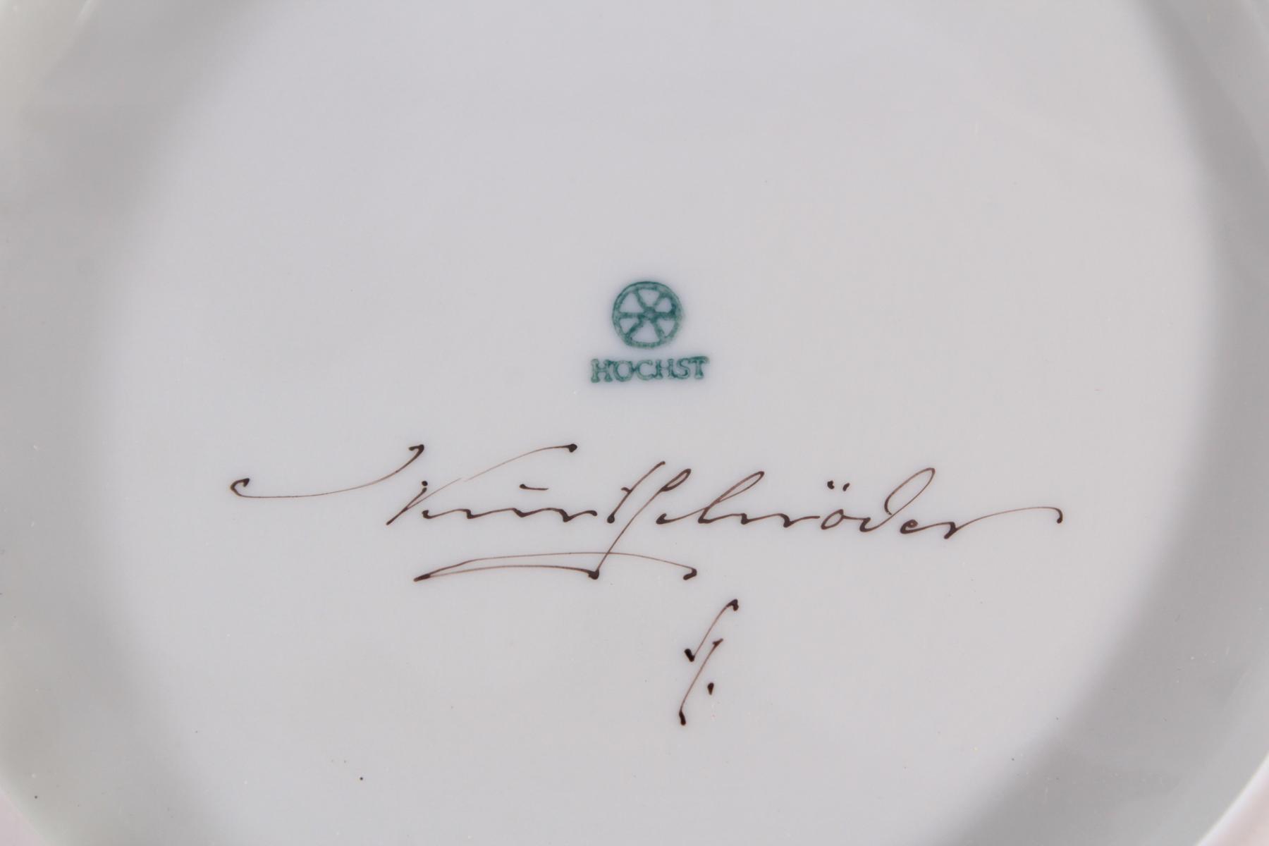 Runde Anbietschale Hoechst, signiert Kurt Schröder-3
