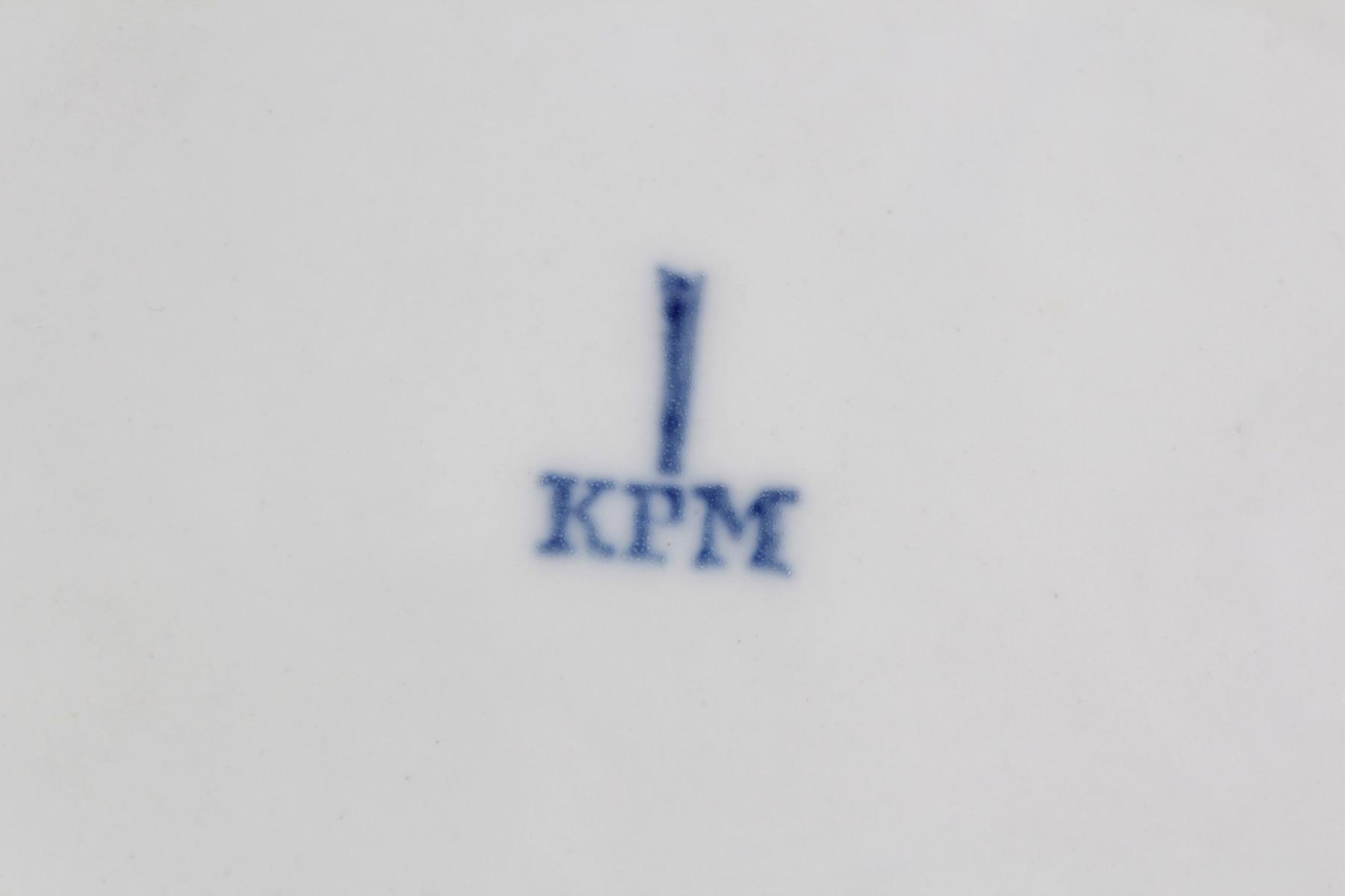 Anbietschale und Teller KPM Berlin 19. Jh.-3