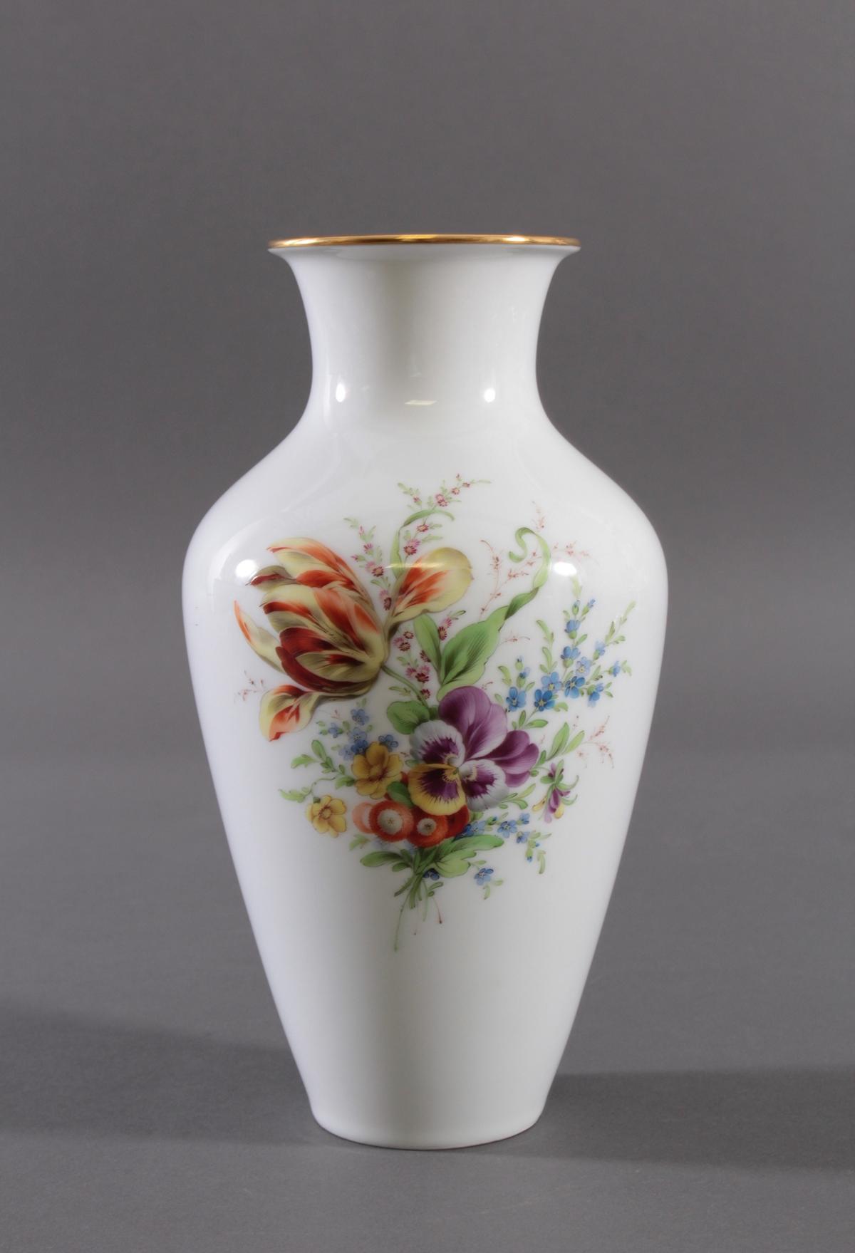 Große Vase, Höchster Porzellanmanufaktur, signiert Kurt Schröder (1927 – 2008)