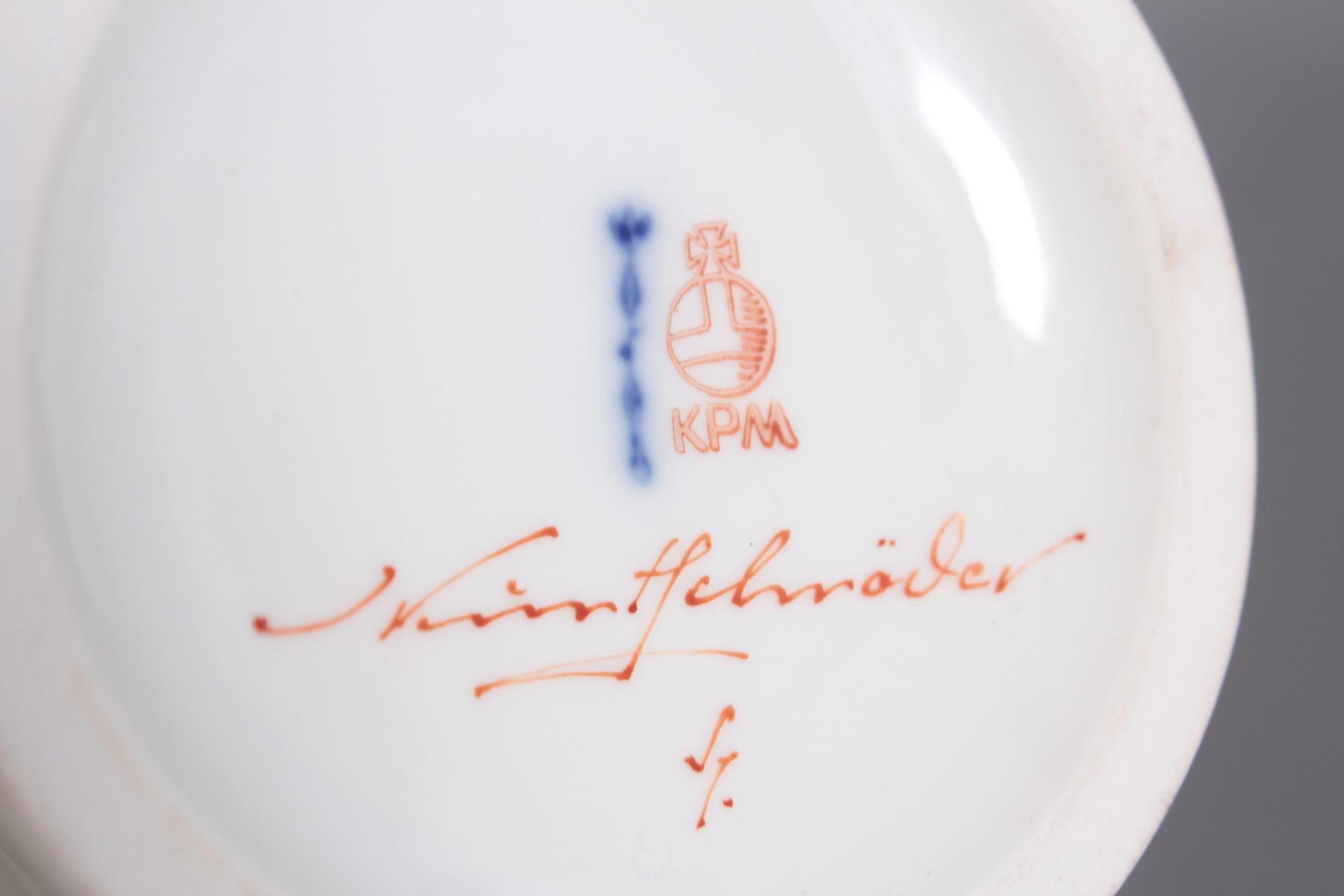 Vase, KPM Berlin, signiert Kurt Schröder (1927 – 2008)-3