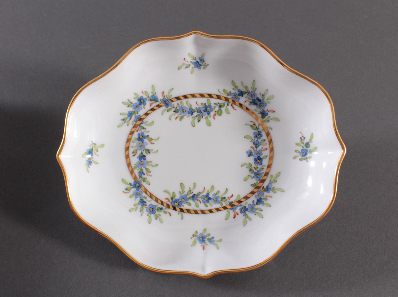 Anbietschale Höchster Porzellanmanufaktur, signiert Kurt Schröder (1927 – 2008)