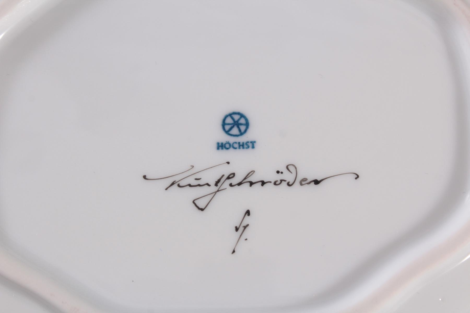 Anbietschale Höchster Porzellanmanufaktur, signiert Kurt Schröder (1927 – 2008)-5