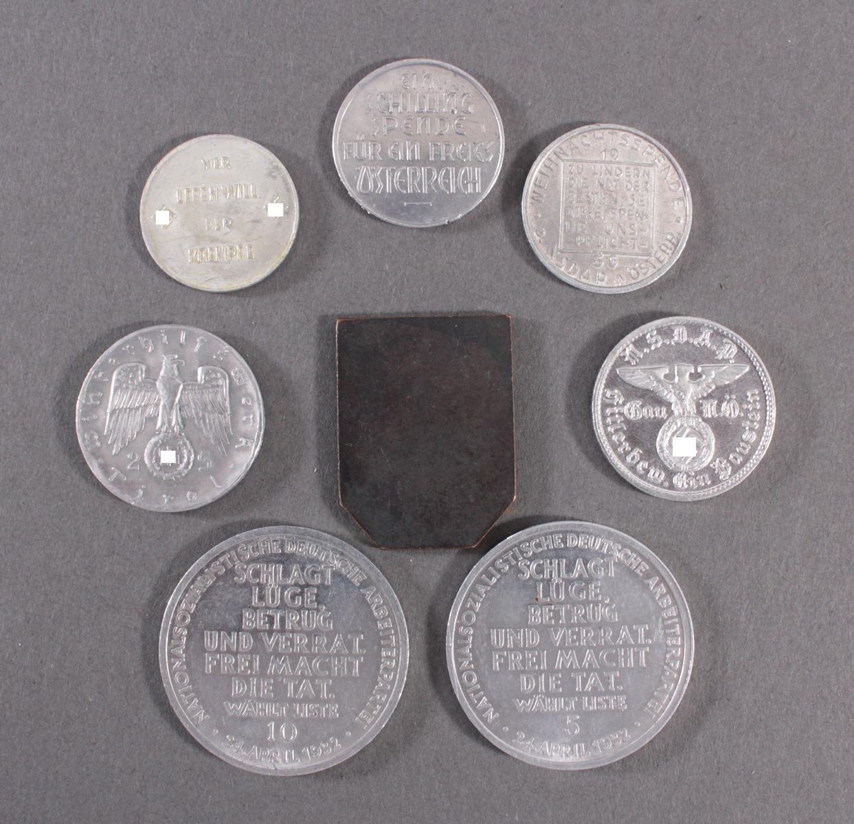 8 Medaillen / Klippen, WHW und Wahl 1932-2