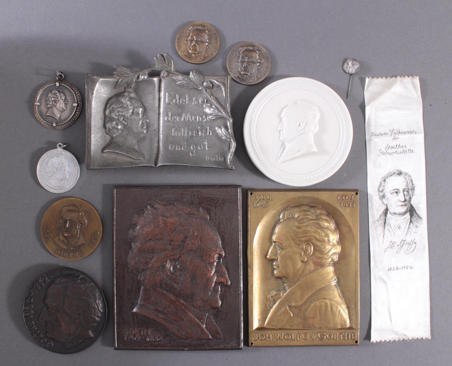 Memorabilia zum Thema Goethe