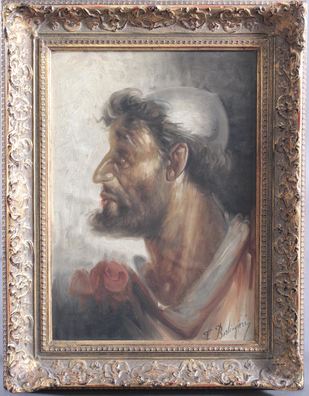 F. Berlingieri ? – ?, Herrenporträt im Profil